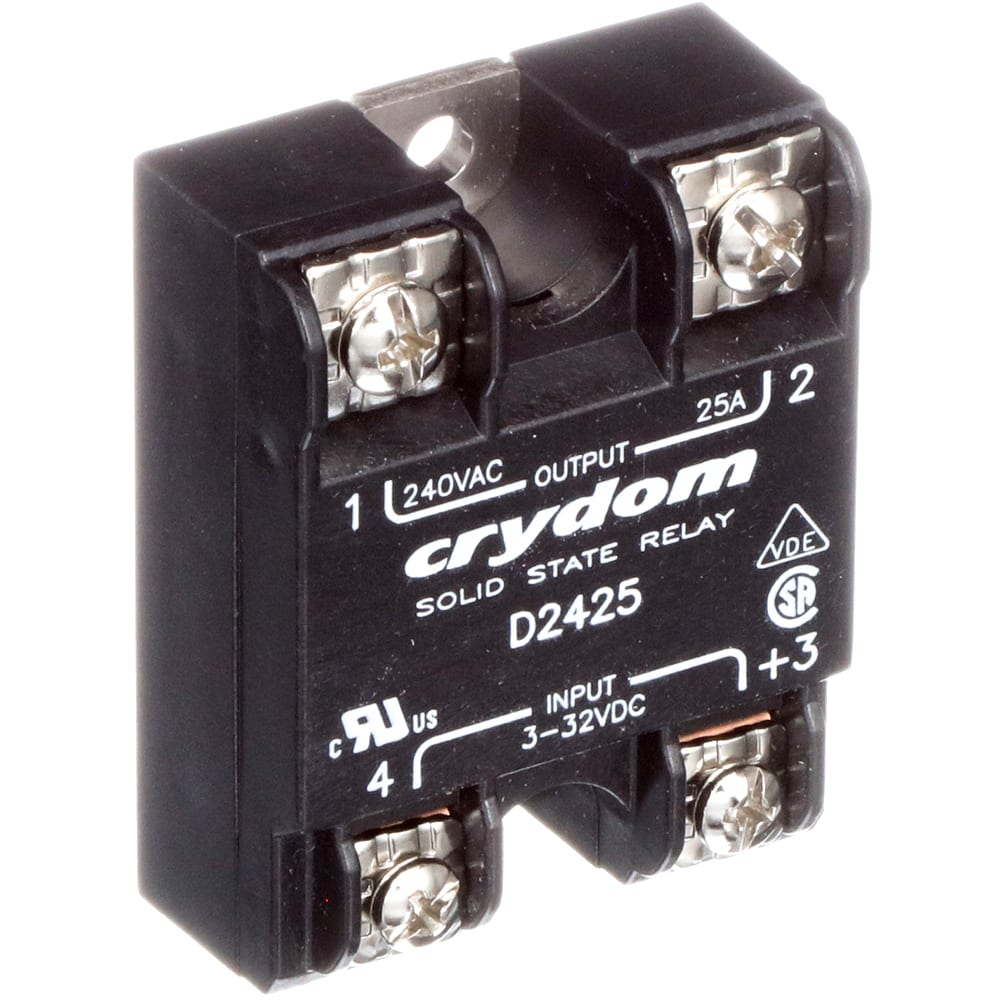 Sensata Crydom D2425 Relay Solid State Spst No Cur Rtg 25a Normally Closed Vol 48 280vac Ctrl 3 32vdc Panel Allied Electronics Automation