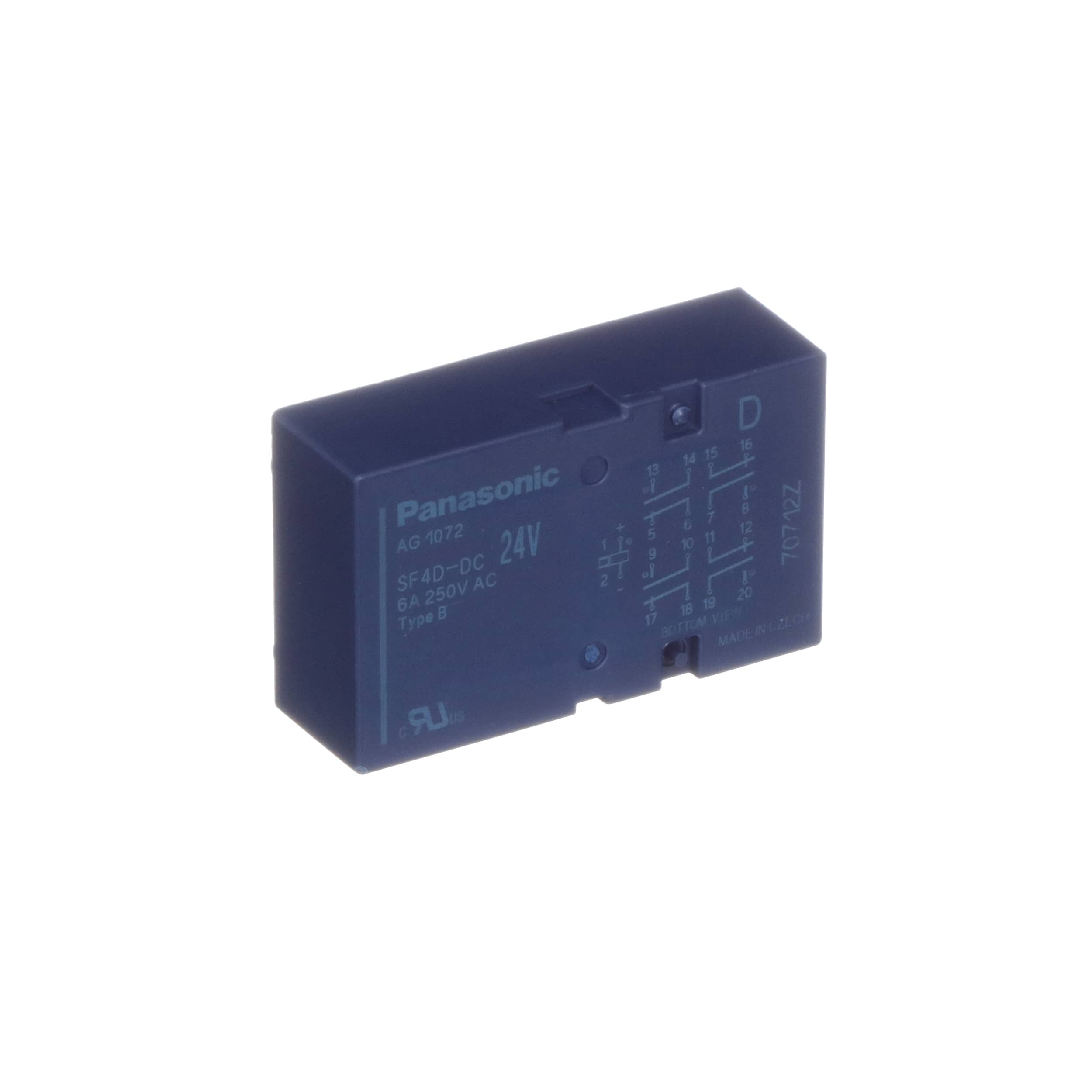 Panasonic Sf4d Dc24v Relay 6 A 64 250 Vac 30 Vdc Dip Reed All Electronics Corp 4nofrasl 4nc 115 Allied Automation