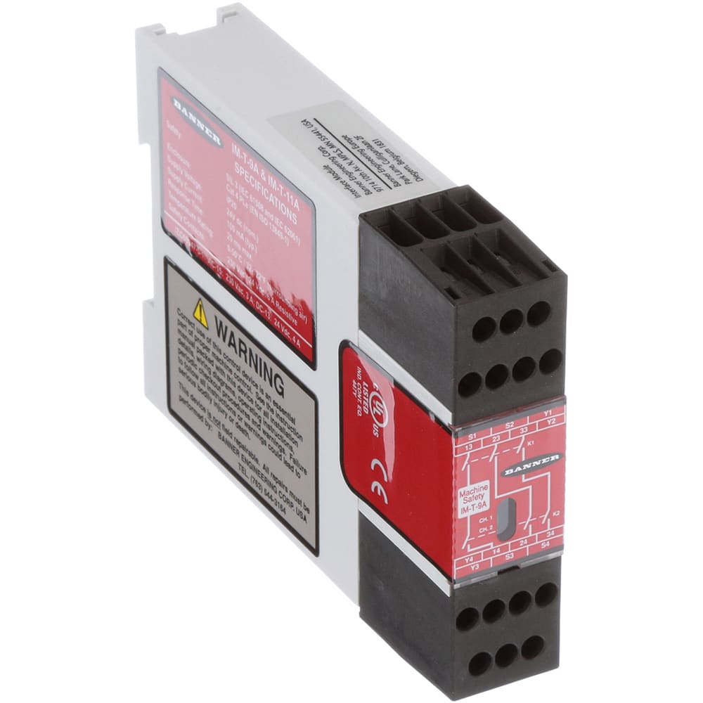 Banner Engineering - IM-T-9A - Safety Relay; DIN Rail Mount ... on