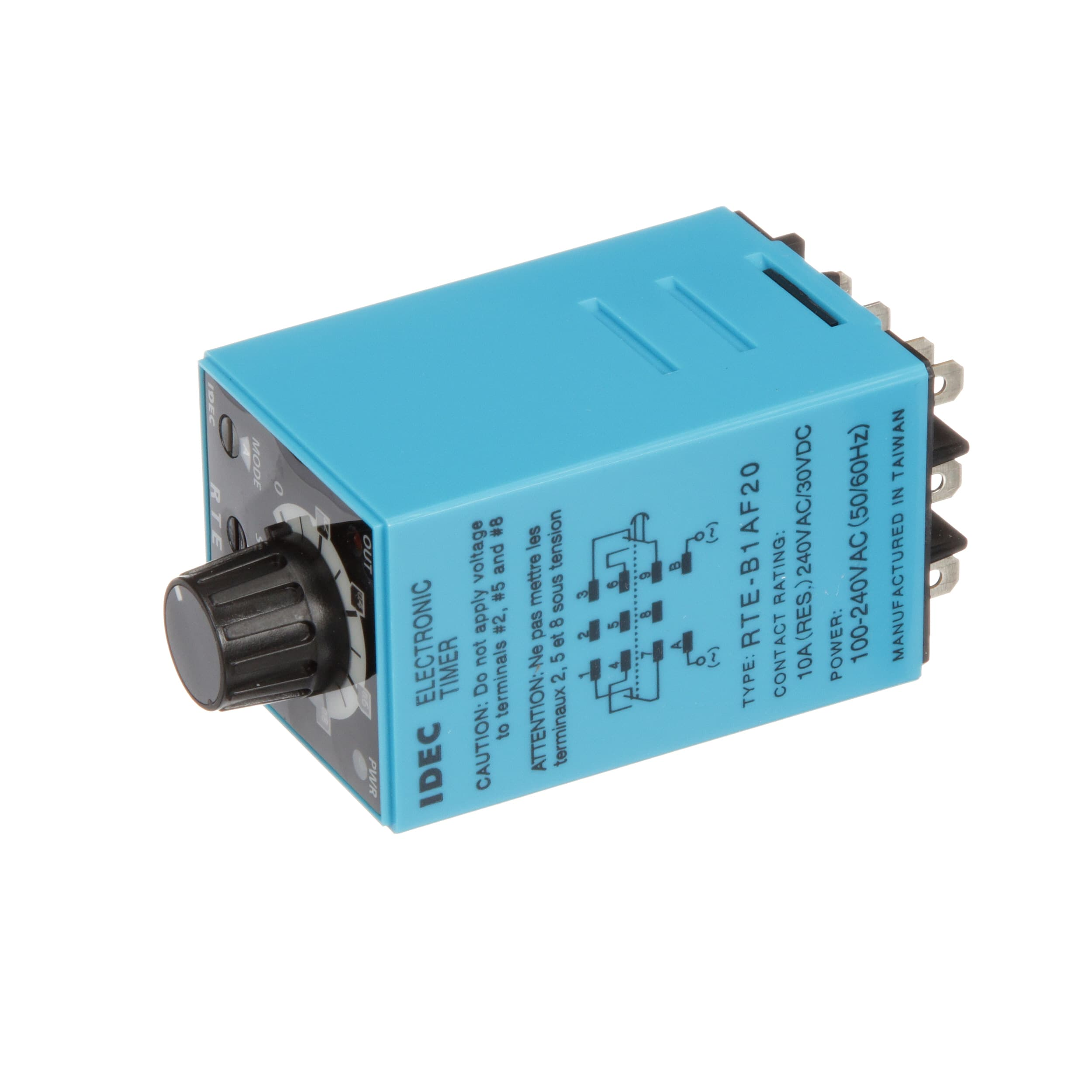 Idec Corporation Rte B1af20 Relay Ssr Timing Multi Function Wiring Dpdt Cur Rtg 10a Ctrl V 100 240ac Blade Allied Electronics Automation