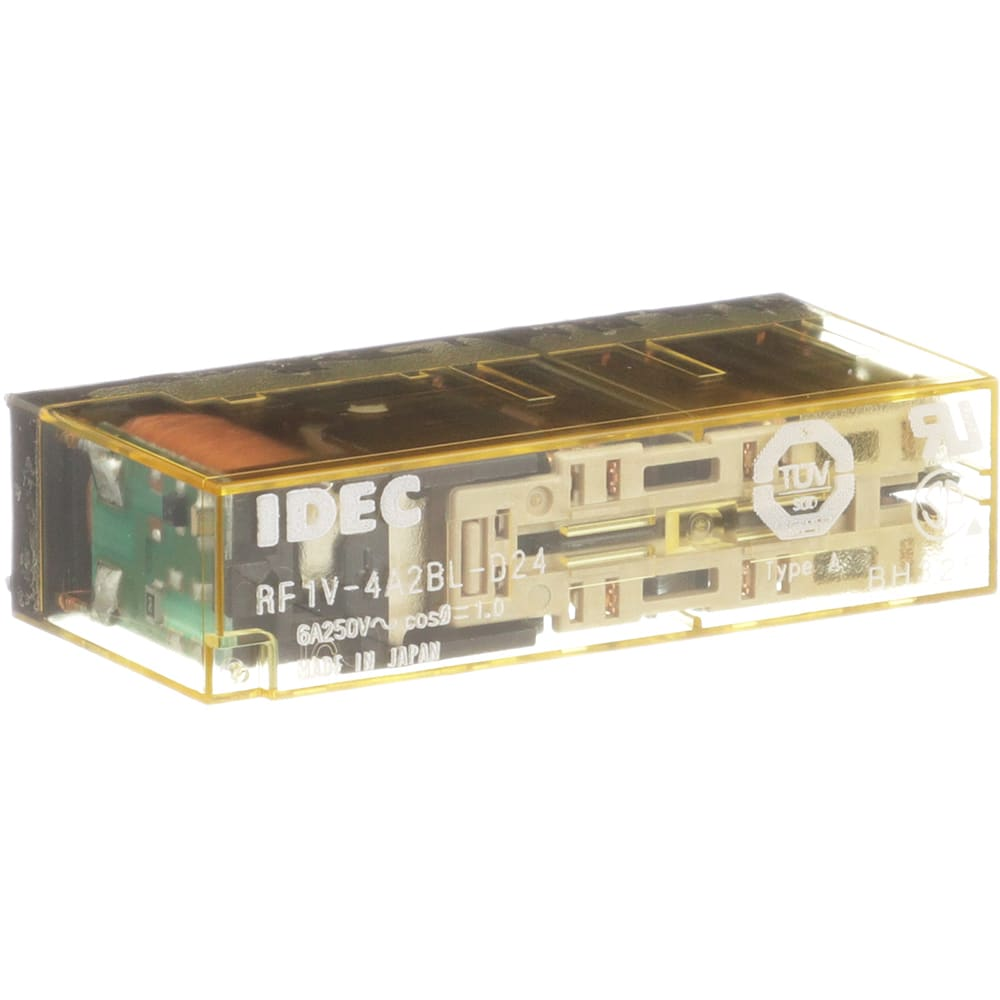 Idec Corporation Rf1v 4a2bl D24 Relay Force Guided 4no 2nc Vdc Dip Reed All Electronics Corp Dc24v Led Pcb Terminals Allied Automation
