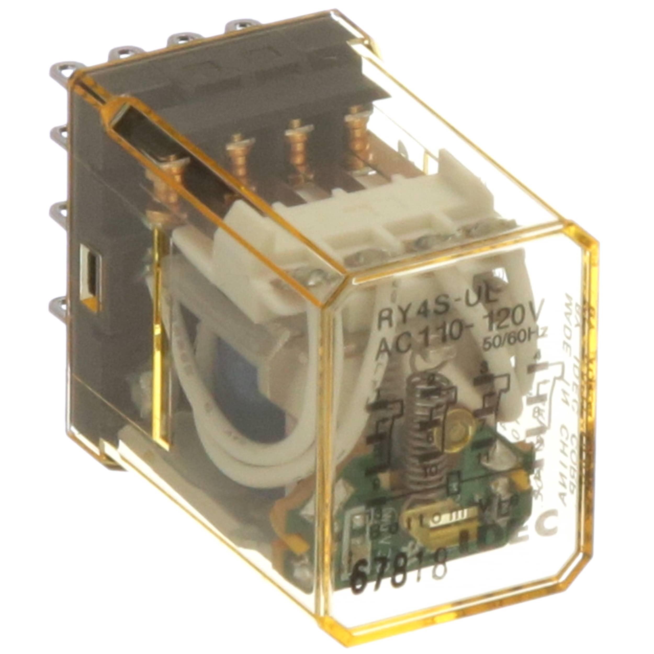 IDEC Corporation - RY4S-ULAC110-120V - Relay; E-Mech; GenPurp; 4PDT;  Cur-Rtg5A; Ctrl-V110-120AC; Vol-Rtg 240AC; Plug-In/Solder - Allied  Electronics & ...