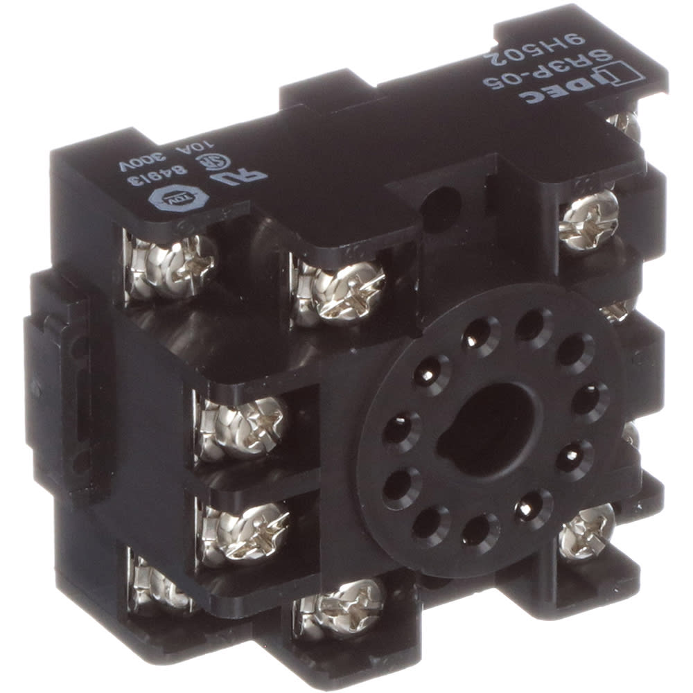 IDEC Corporation - SR3P-05 - Relay Socket; 11 Pin; 3 Pole; 300 V; 10 on