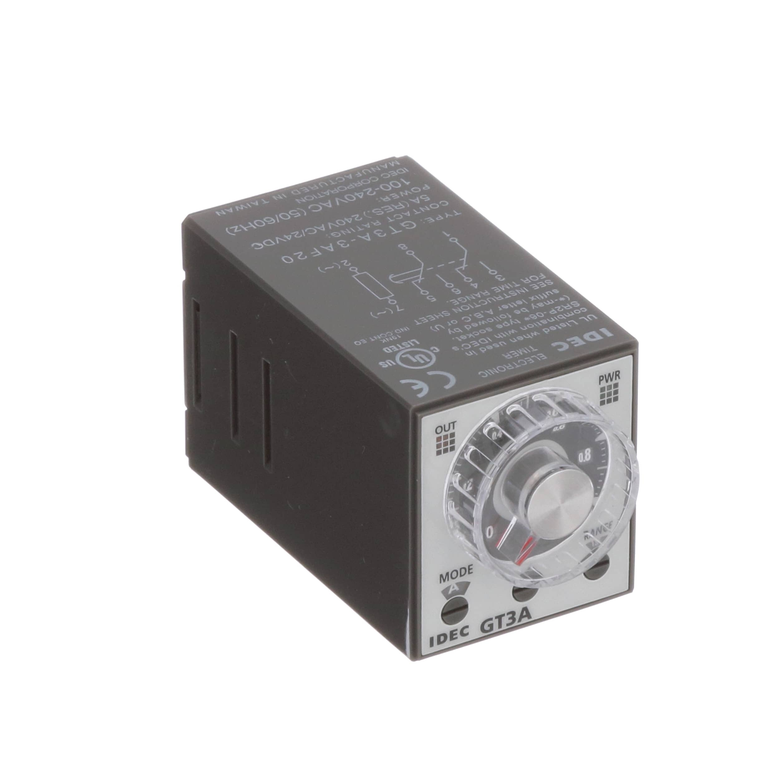 Idec Corporation Gt3a 3af20 Relay E Mech Timing Multimode To Legally In Canada Add 240v Power Outlet From Stove Dpdt Cur Rtg 5a Ctrl V 100 240ac 250vac Socket Mnt Allied Electronics Automation