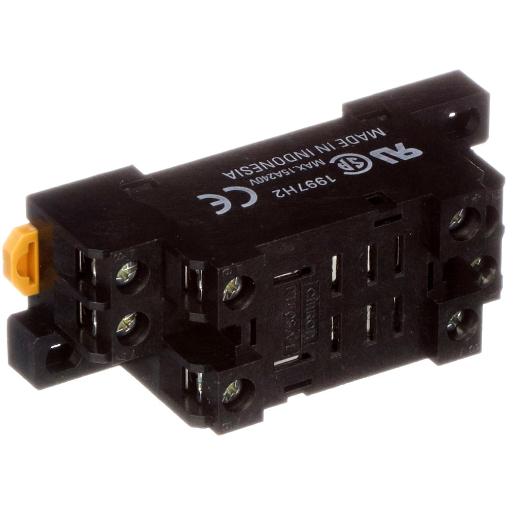 Omron Automation - PTF08AE - Relay Socket; 8 Pin; 2 Pole; 5A; Track on 8 pin time delay relays, 8 pin relay connections, 8 pin relay base, 8 pin cube relay diagram, 8 pin round base, 8 pin relay circuits, 8 pin relay plug in, 8 pin relay socket diagram,
