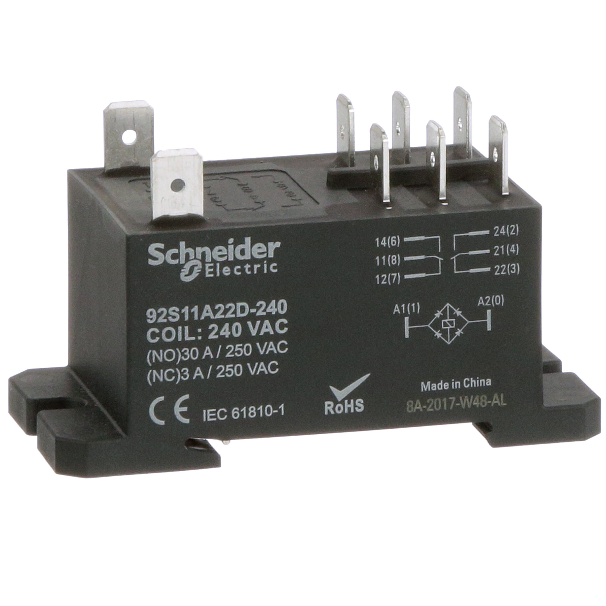 Schneider Electric Magnecraft 92s11a22d 240 Relay E Mech Power Omron G7l Dpdt Ctrl V 240ac 30a No 3a Nc 300v Panel Mnt Qc Term Allied Electronics