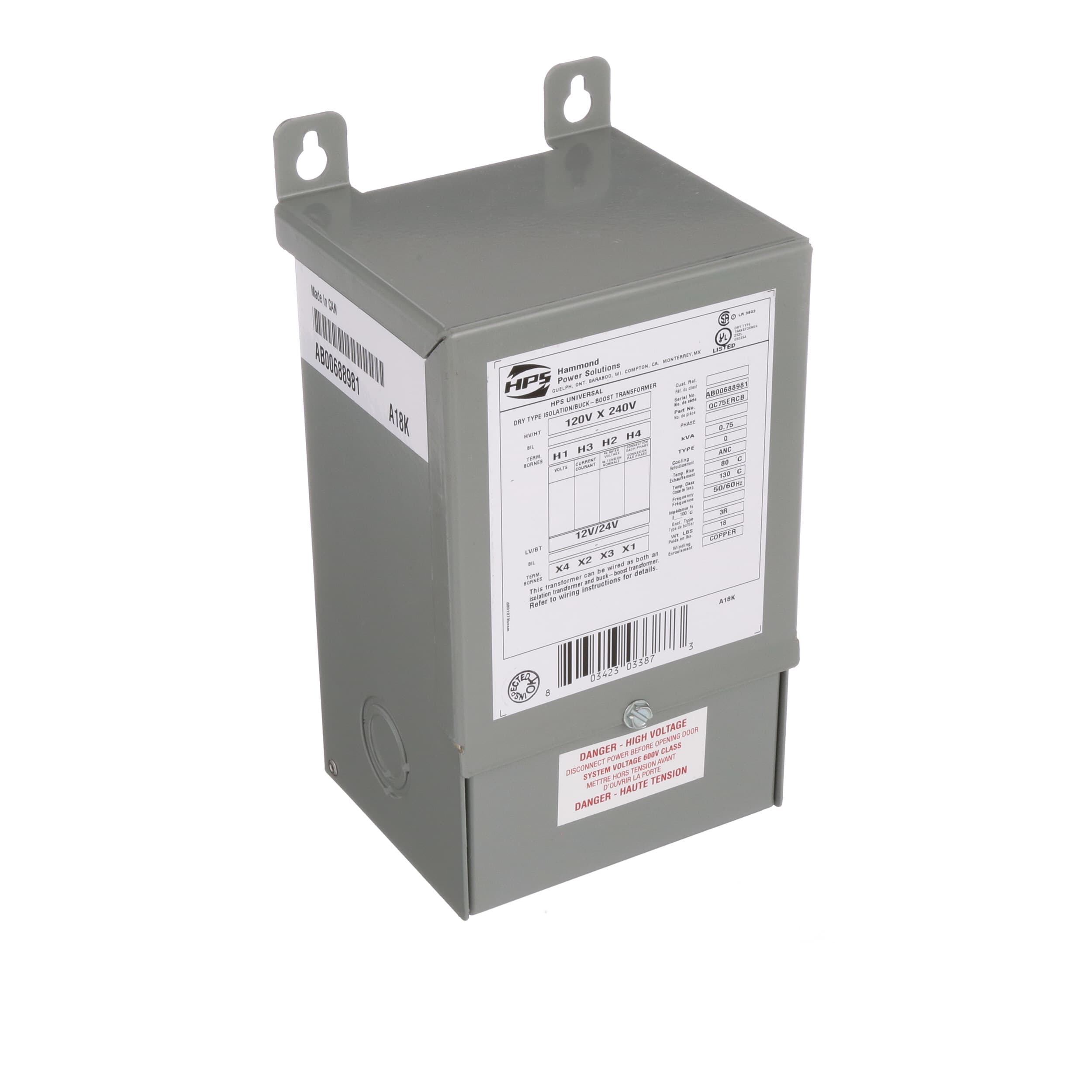 Hammond Power Solutions Qc75ercb Transformer Buck Boost Config Drytype Testing Open Electrical Nema Encapsulated 1 Freq 50 60hz Pri 120 240vac Allied Electronics Automation