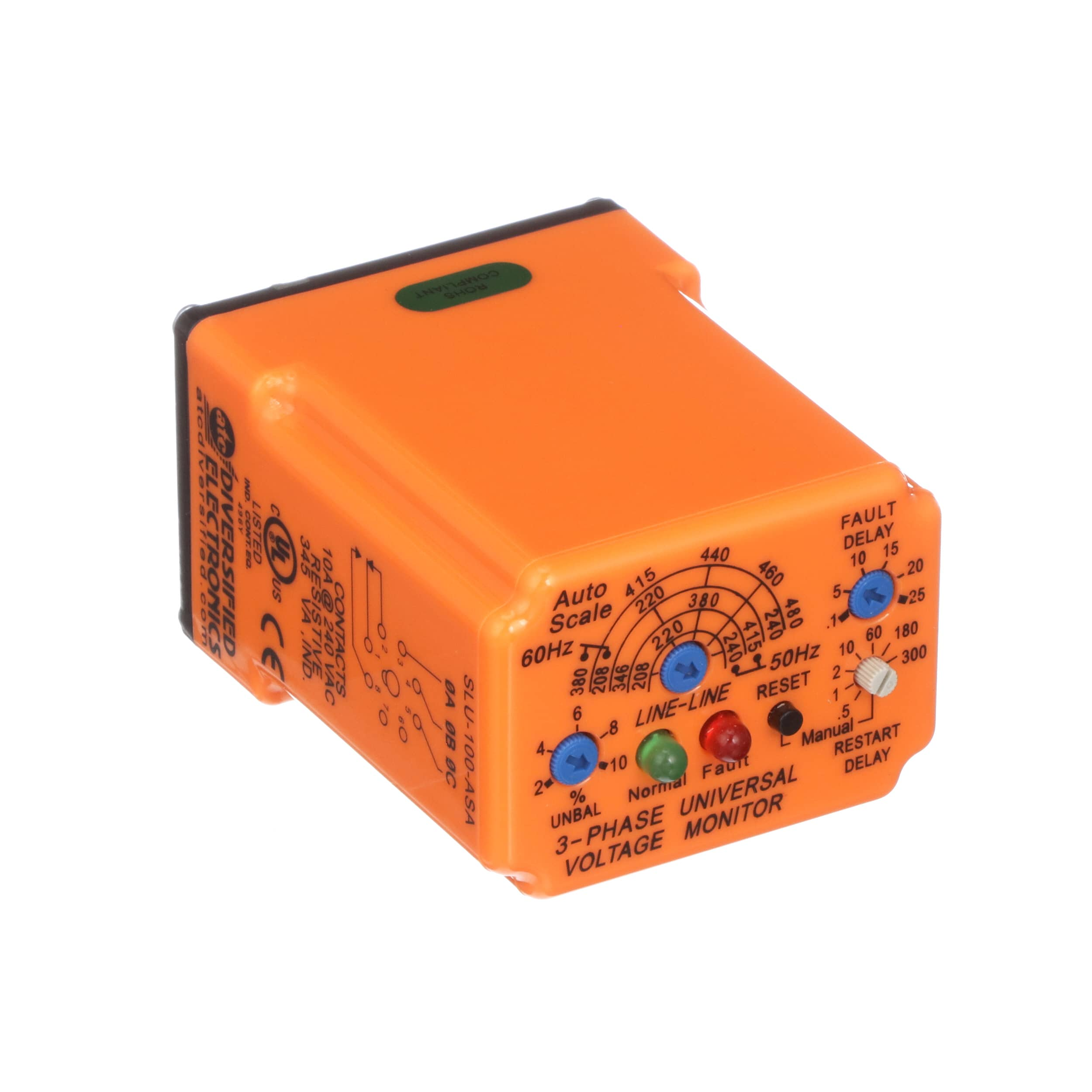 Atc Diversified Electronics Slu 100 Asa Relay E Mech 3 Phase Current Sensing Vacuum Monitor 10a 550vac Culus Listed Ce Marked Allied Automation