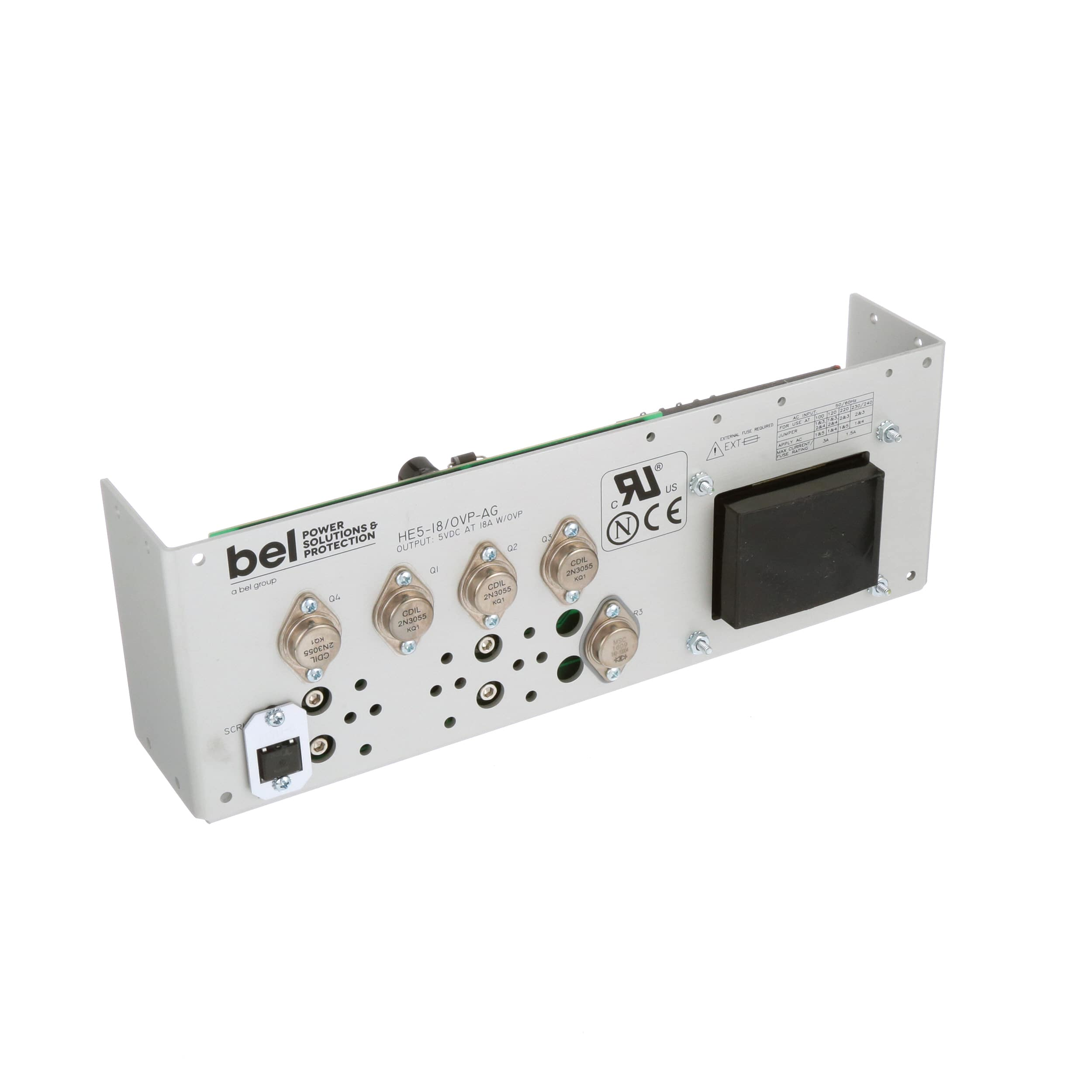 Bel Power Solutions He5 18 Ovp Ag Supply International 5v System Protected From 24v Supplies Linear 18a Rohs Compliant Allied Electronics Automation