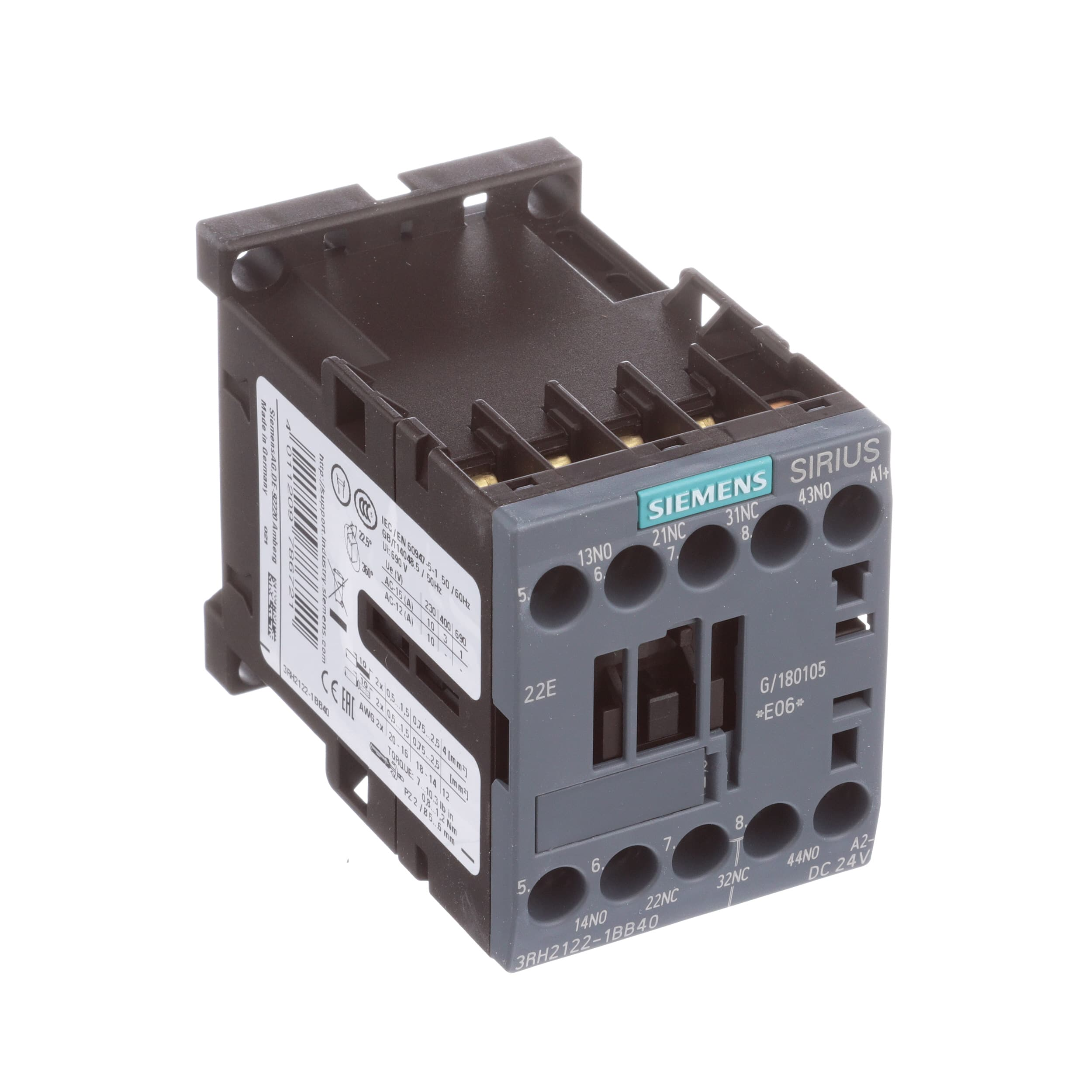 Siemens - 3RH21221BB40 - CONTACTOR RELAY 2NO+2NC DC 24V ... on auxiliary fuel tank, auxiliary battery, auxiliary locks, auxiliary radiator, auxiliary horn, auxiliary contactor, auxiliary fuse box, auxiliary fuel pump,