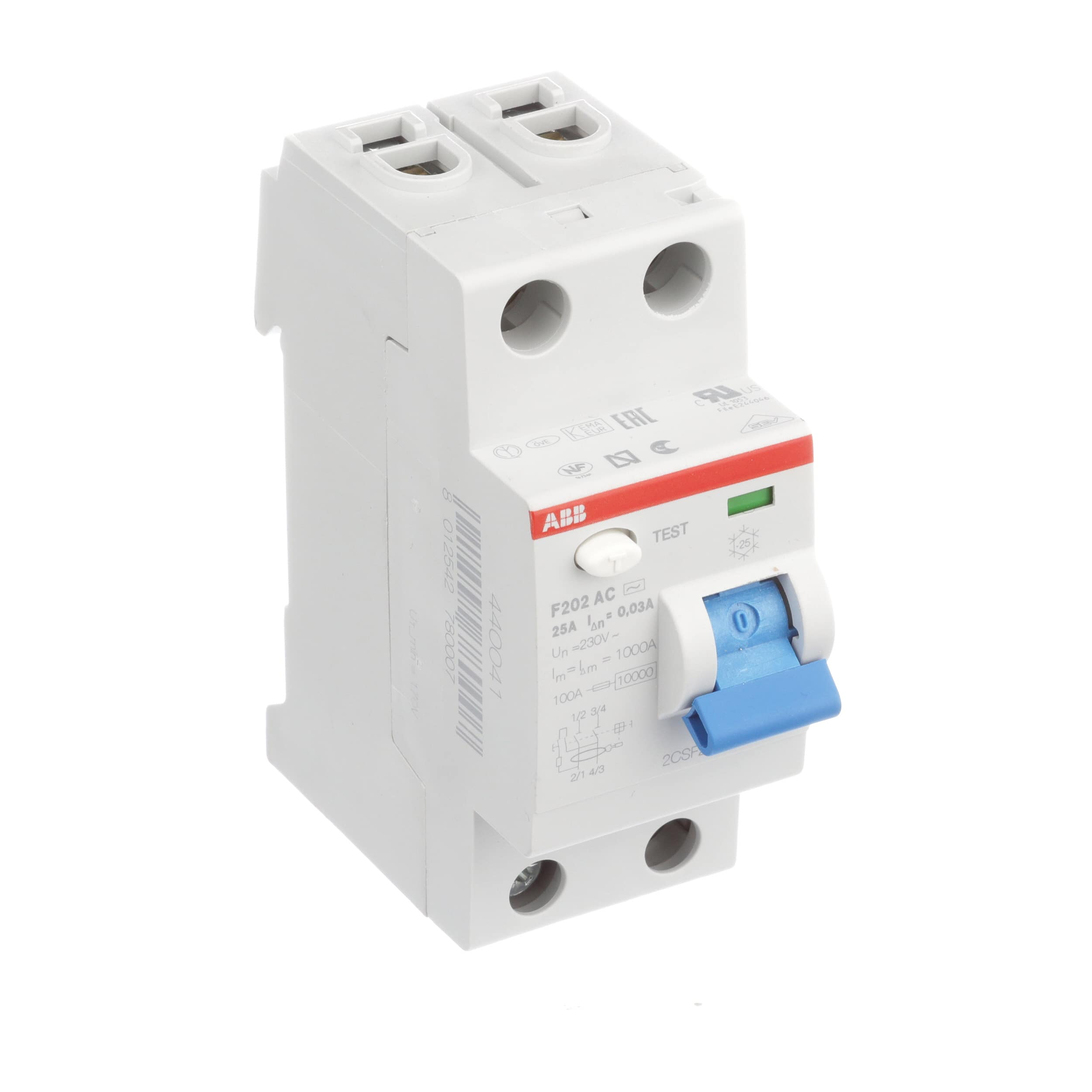 Abb F202ac 25 003 Circuit Breaker Gfep Ground Fault Equipment Under Current Relay Protection 2 Pole Ac 25a 30ma Allied Electronics Automation