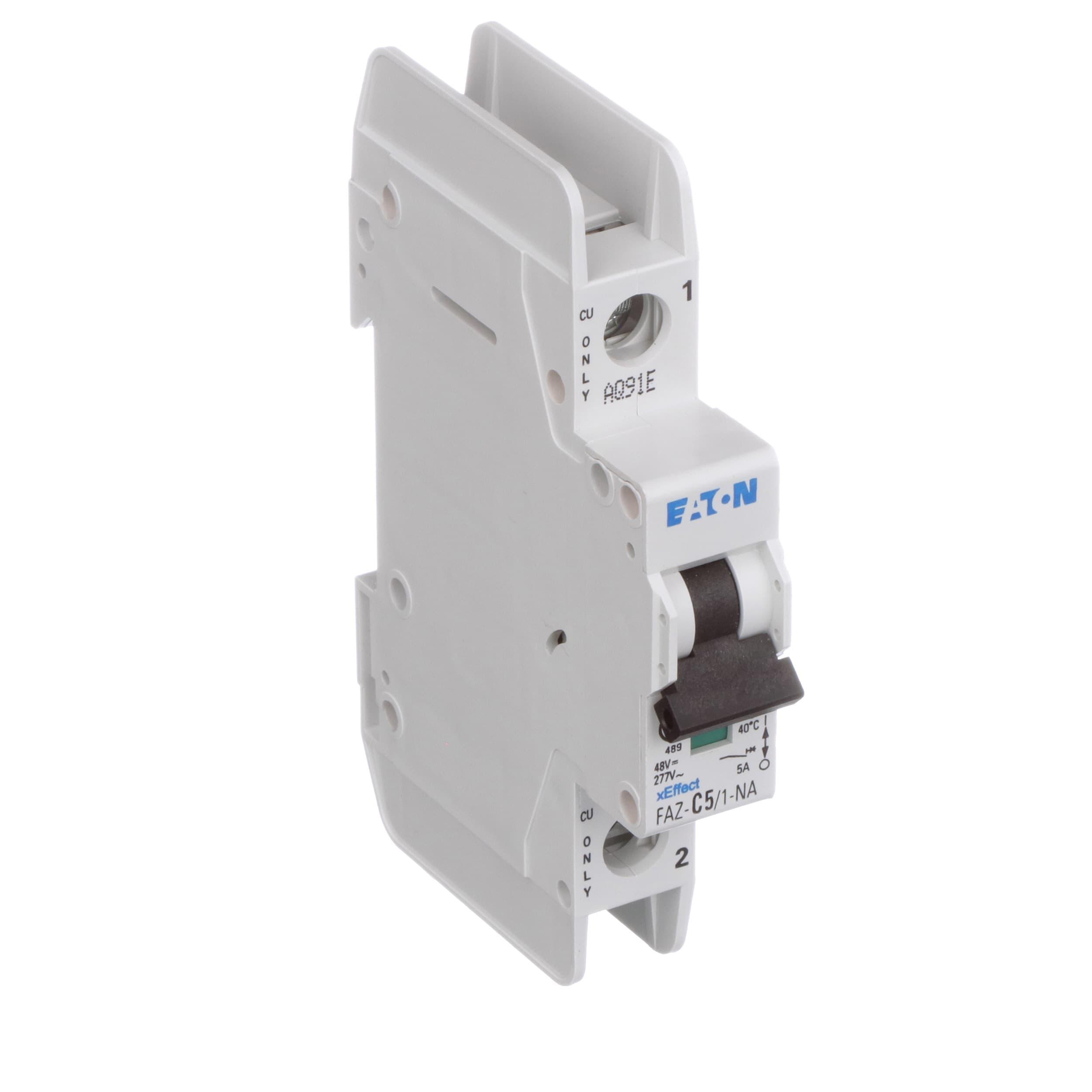 Eaton Cutler Hammer Faz C5 1 Na Sp Circuit Breaker Remote Control Breakers Electronic Design Supplementary C Curve 5a Pole Single Pkg Ul 489 Screw Allied Electronics Automation