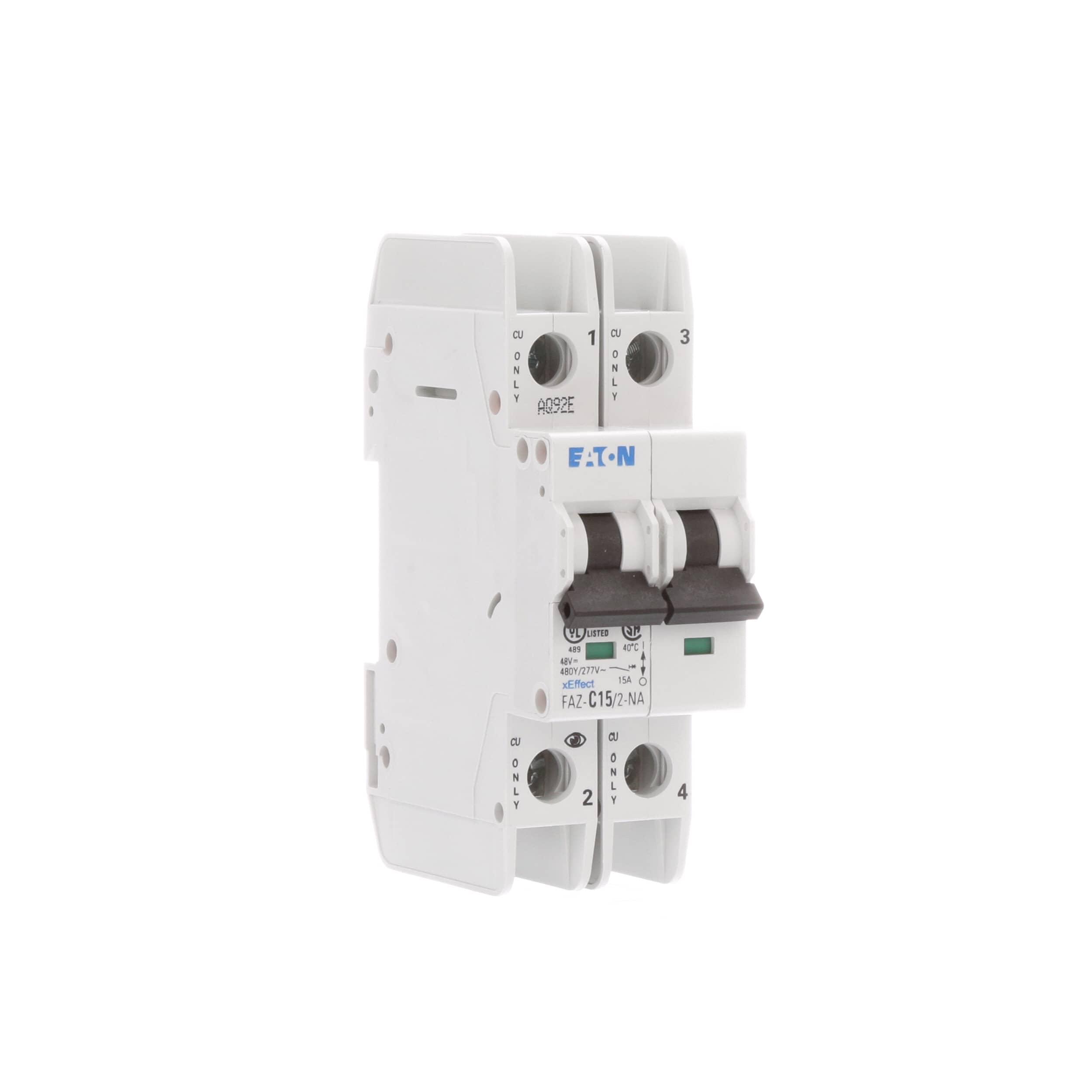 Eaton Cutler Hammer Faz C15 2 Na Circuit Breaker Logic In Power Plant Supplementary C Curve 15a Pole Std Pkg Ul 489 Screw Allied Electronics Automation