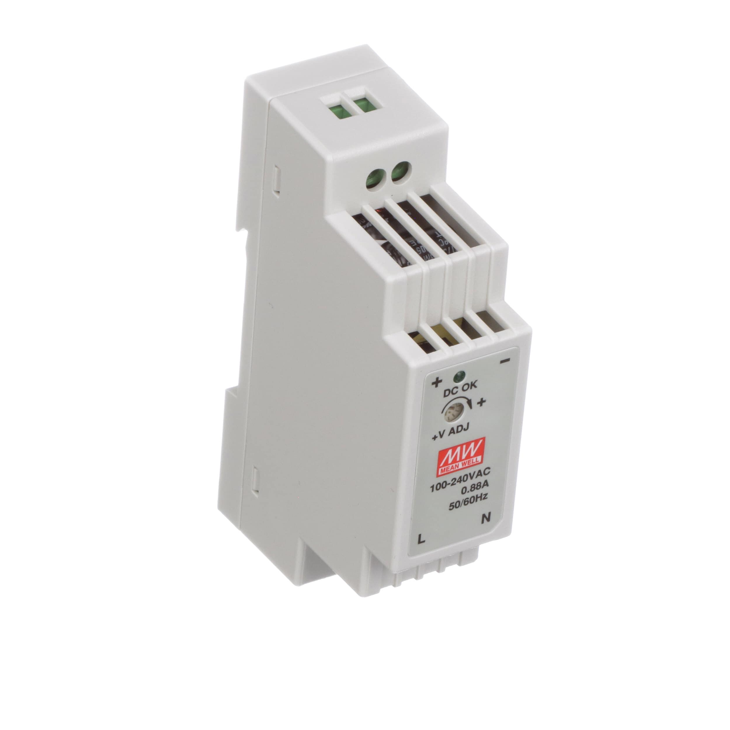 Mean Well Usa Dr 15 24 Power Supply Ac Dc 24v 063a 100 264v Converter Further Circuits Gt 15w Inverter Circuit 12vdc To 120vac In Enclosed Din Rail Mount Series Allied Electronics Automation