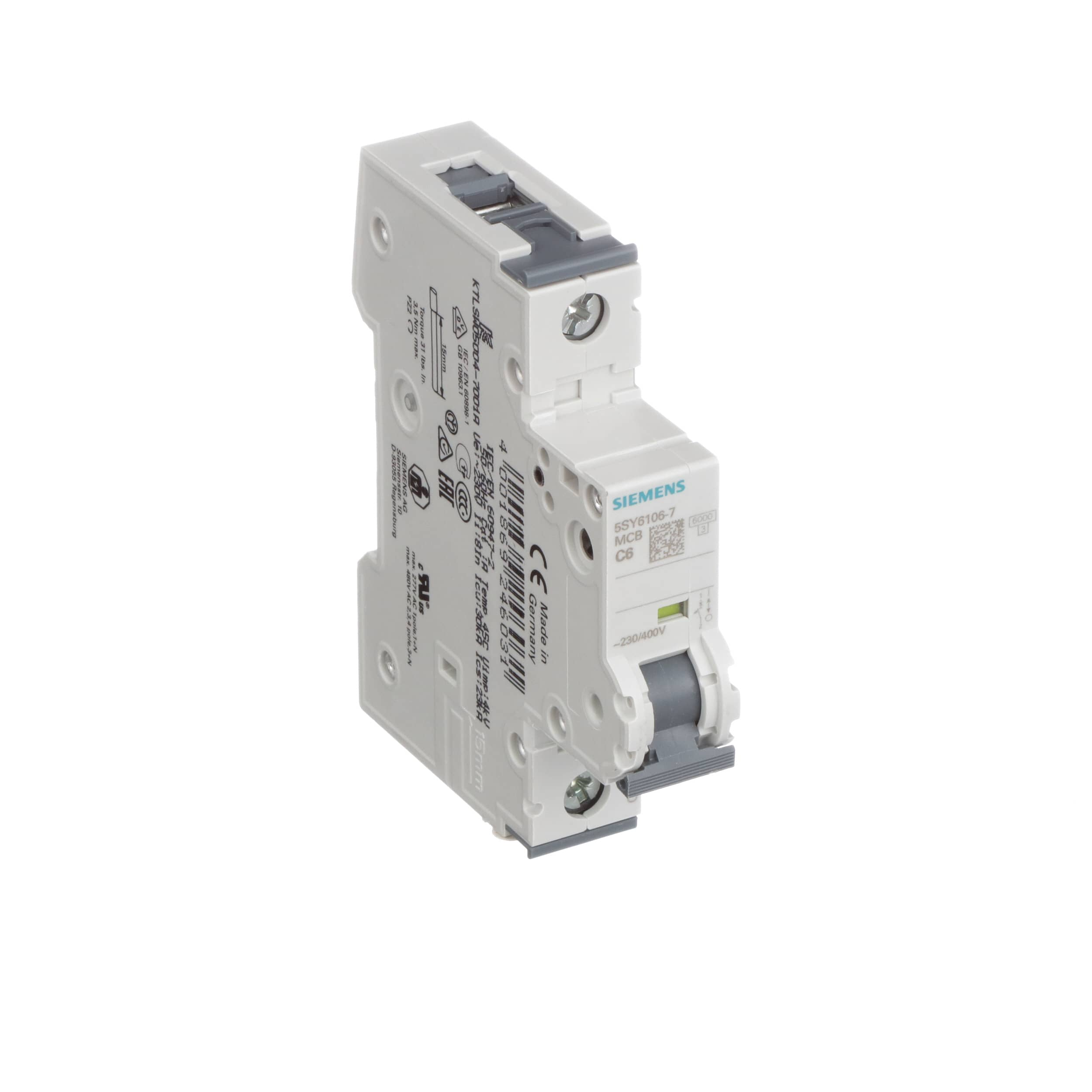 Siemens 5sy61067 Supplementary Protector 400v 6ka 1pole C 6a How To Troubleshoot Circuit Breakers Mini Breaker 2 Allied Electronics Automation