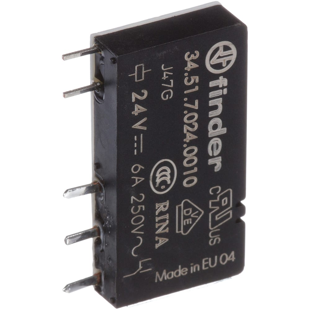 Finder 345170240010 Spdt Pcb Mount Non Latching Relay The Switch With Supplied Nut Secure Your Wiring So It Pin 24v Dc Allied Electronics Automation