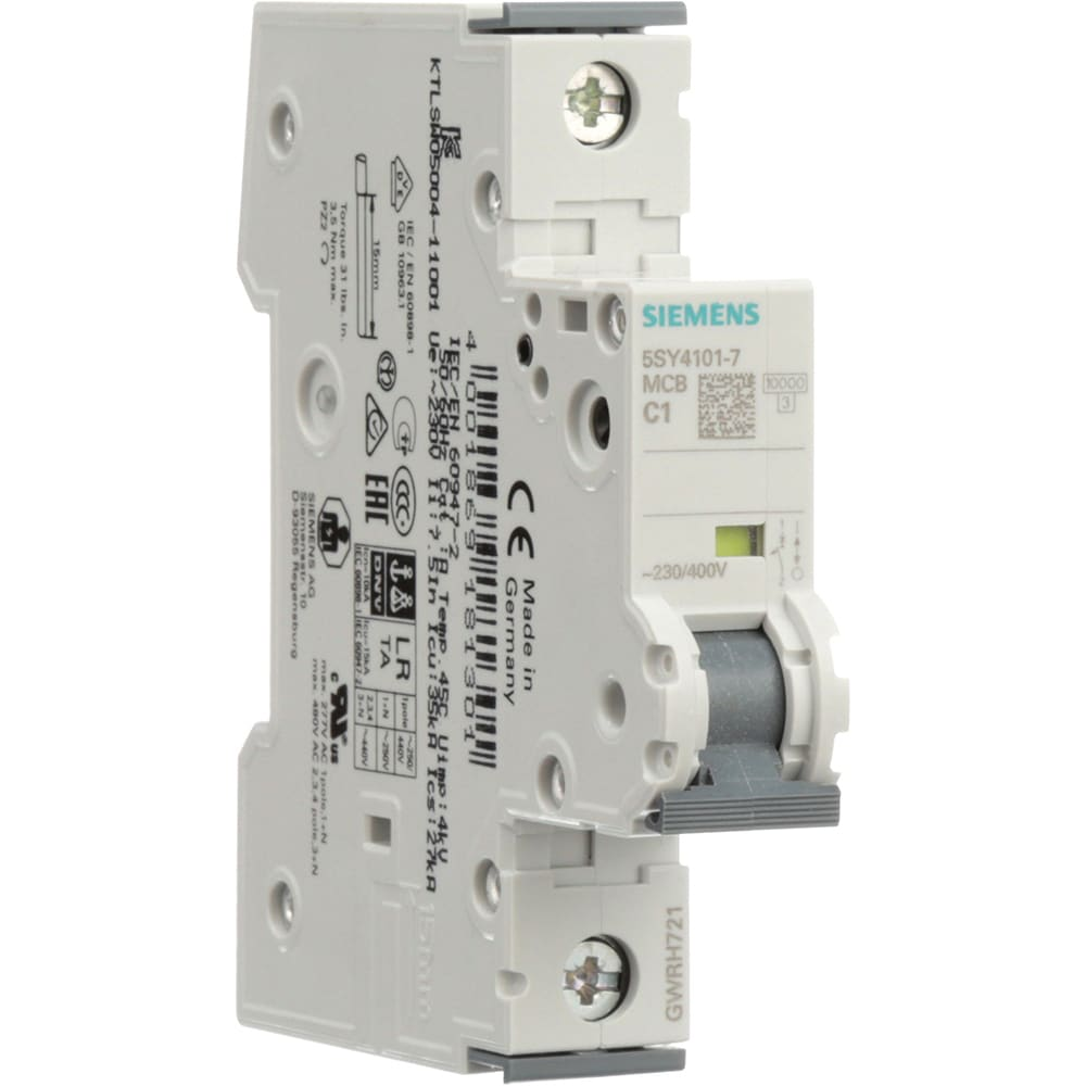 Siemens 5sy41017 Circuit Breaker Supplementary 1 P 1a C The Lr Series Electronics Curve 277 Vac Din Mnt Ul 1077 Allied Automation