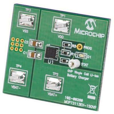 Microchip Technology Inc  - MCP73113EV-1SOVP - Single Li-Ion Battery