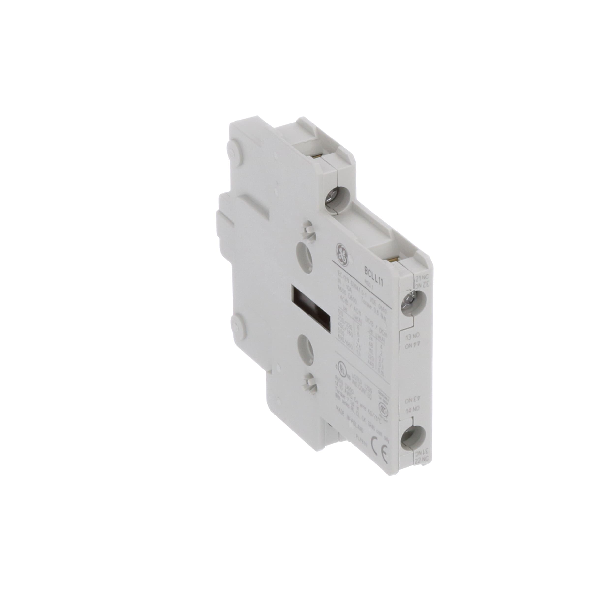 Ge Industrial Solutions Bcll11 Auxiliary Contact Block 600vac Wiring A 3 Pole Fan Isolator Switch Side Mount 1no 1nc Definite Purpose Contactor Allied Electronics Automation