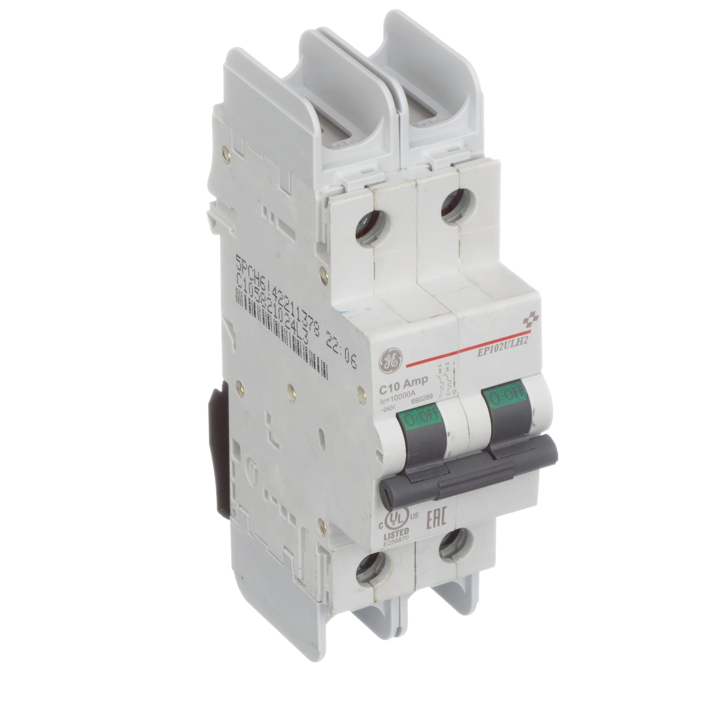 Ge Industrial Solutions Ep102ulh2c10 Miniature Circuit Breaker Off Module View Ep100 Ulh 2 Poles 10 A 480y 277 Vac Allied Electronics Automation
