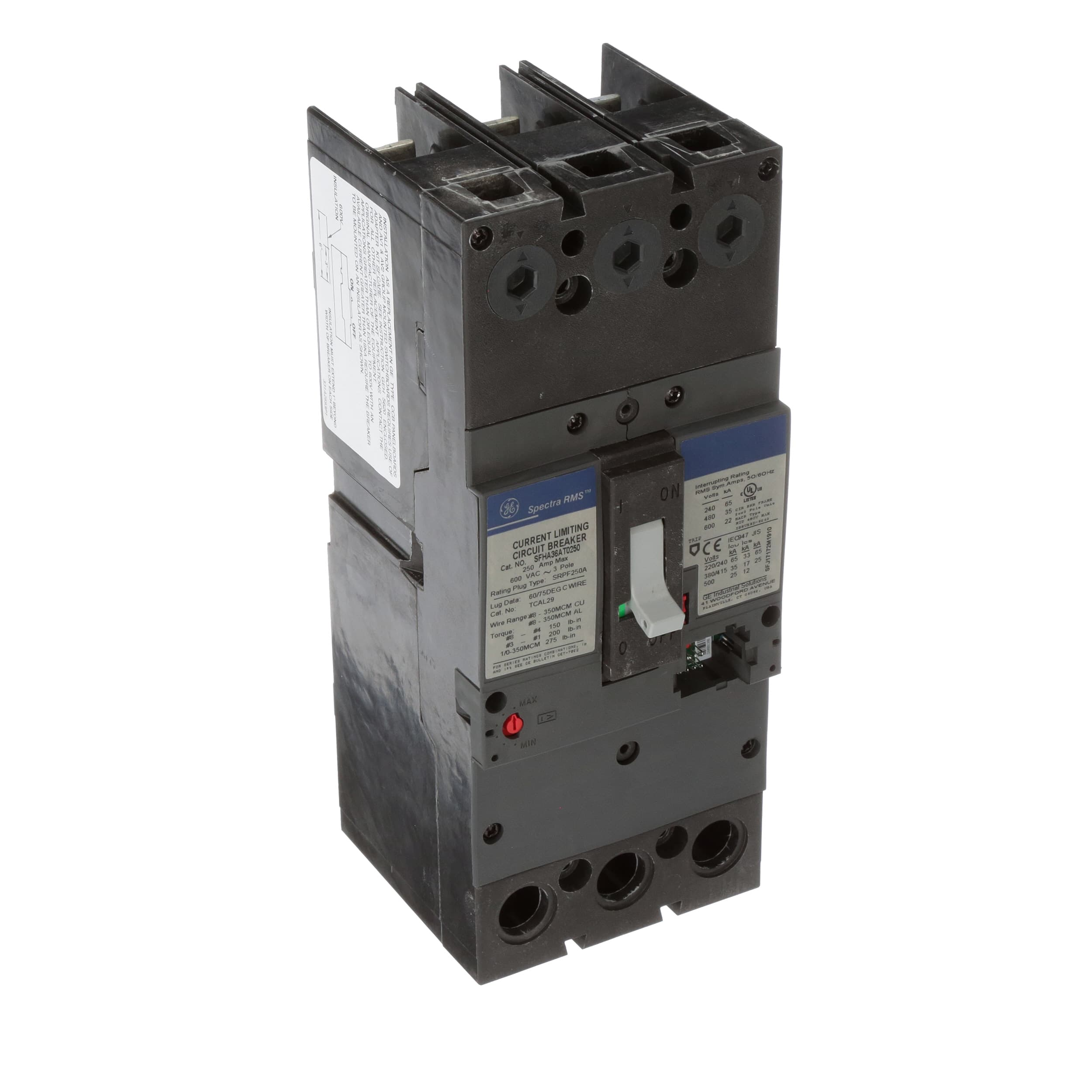 Ge Industrial Solutions Sfha36at0250 Breaker Molded Case Sfh Install Or Replace All Types Of Circuit Breakers 3p 600v 250a Allied Electronics Automation