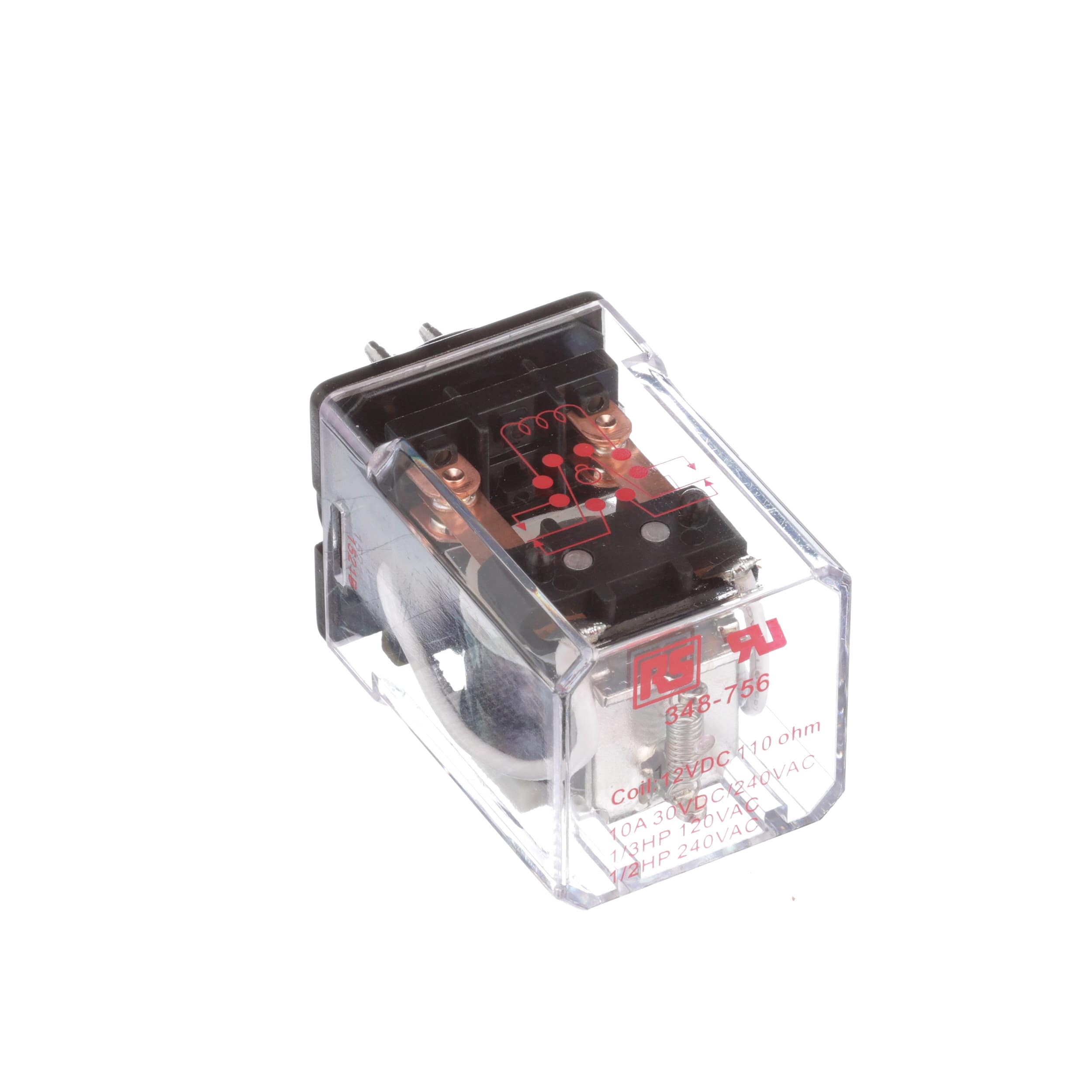 Rs Pro 348756 Socket Mount Non Latching Relay Dpdt 8 Pin Octal 12vdc 10a Allied Electronics Automation