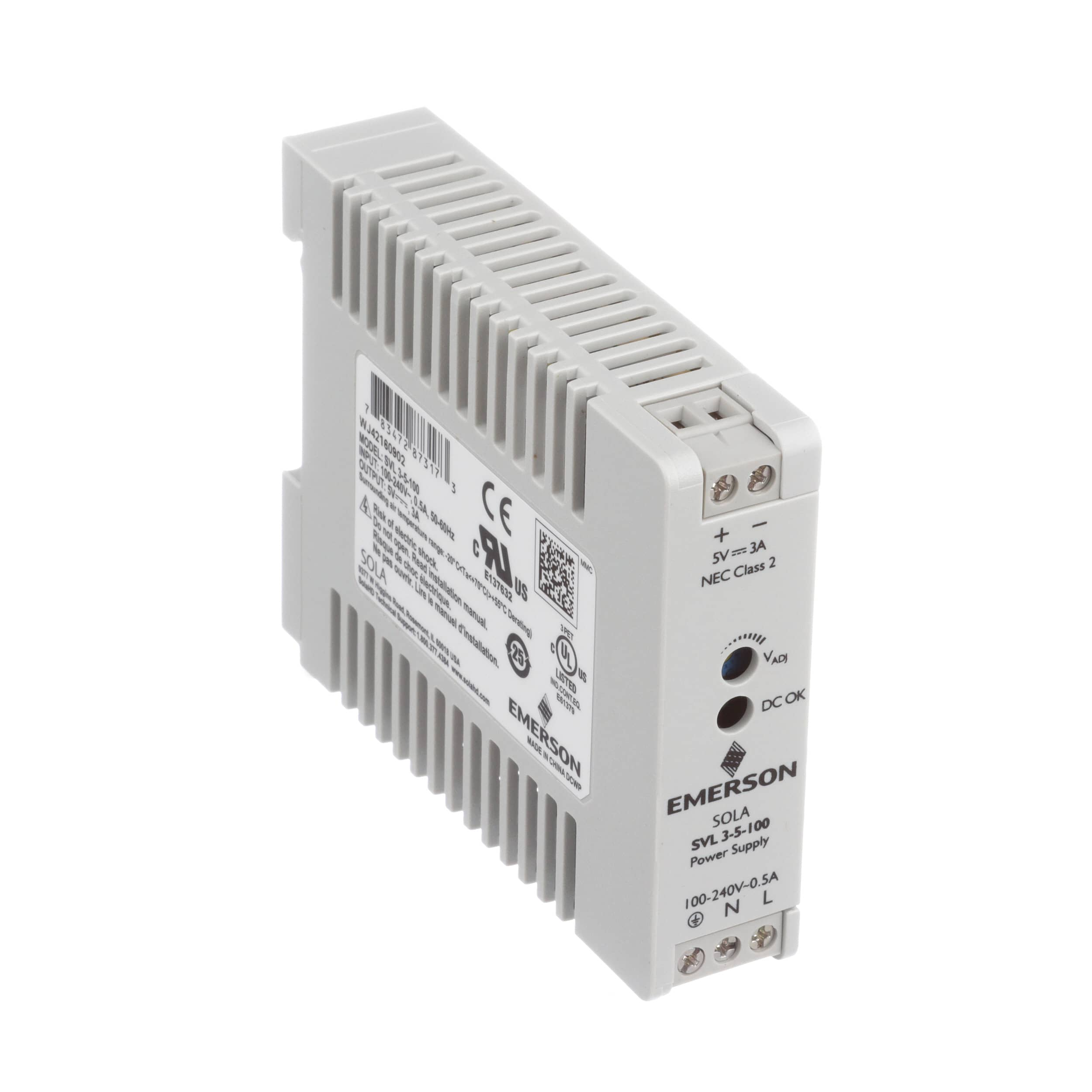 Power Supplies Discrete Semiconductor Devices And Circuits Solahd Svl 3 5 100 Supply Ac Dc Din Rail Single Output 5v 3a 85 264v In Series Allied Electronics Automation