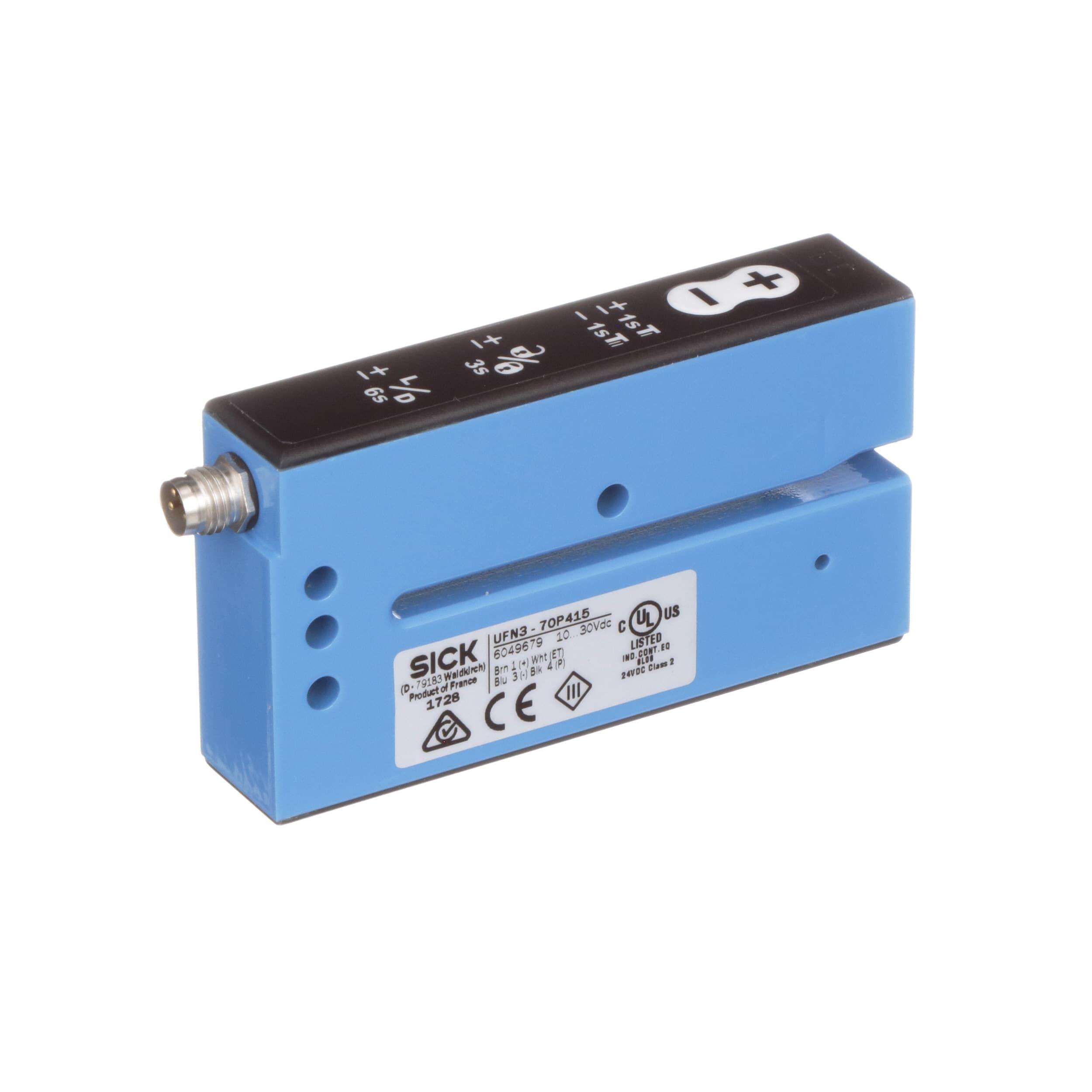 SICK - UFN3-70P415 - Fork Sensor; Ultrasonic; PNP; M8 4Pin Connector ...