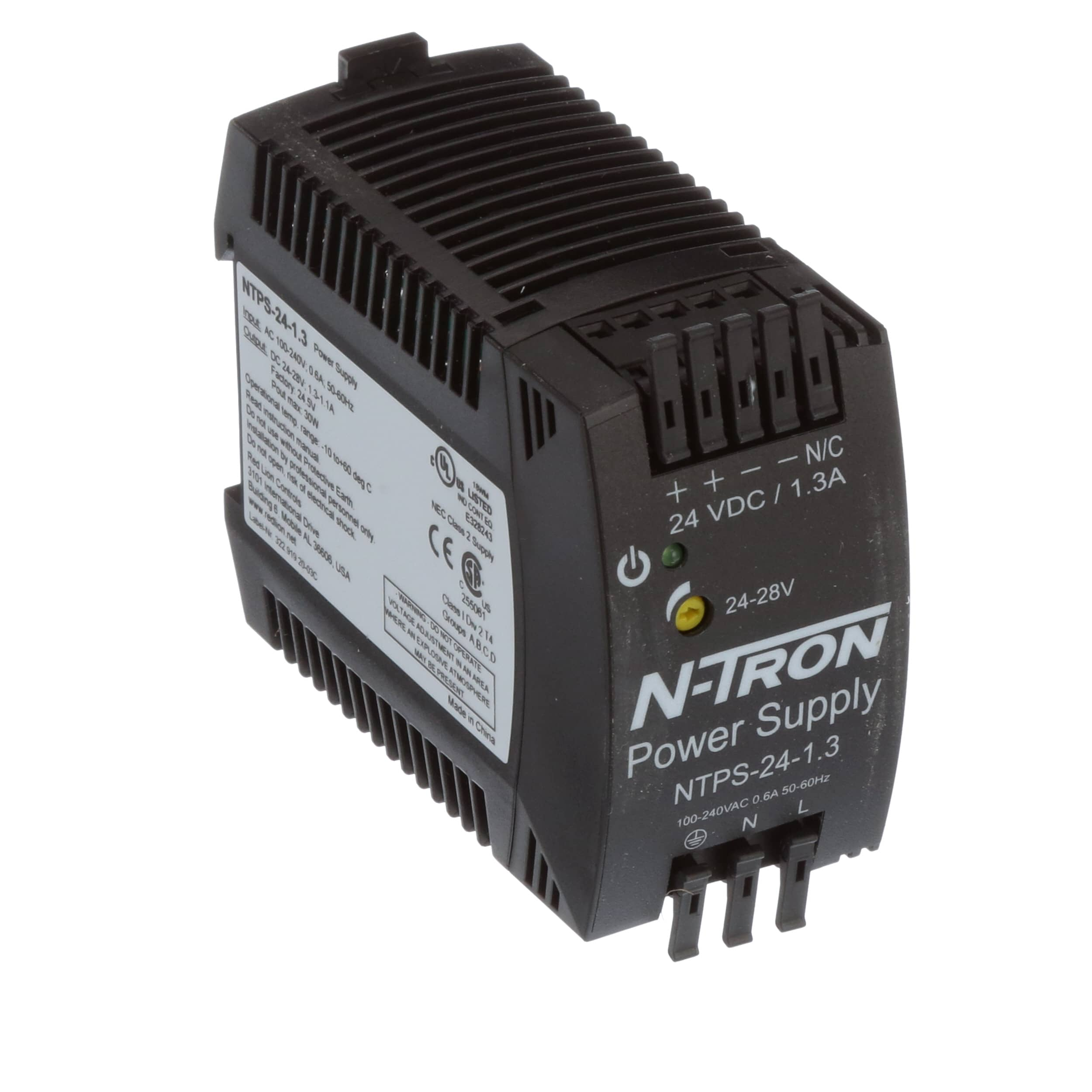 N Tron Corporation Ntps 24 13 Power Supply Ac Dc Din Rail Supplies Discrete Semiconductor Devices And Circuits Amp Vdc Allied Electronics Automation