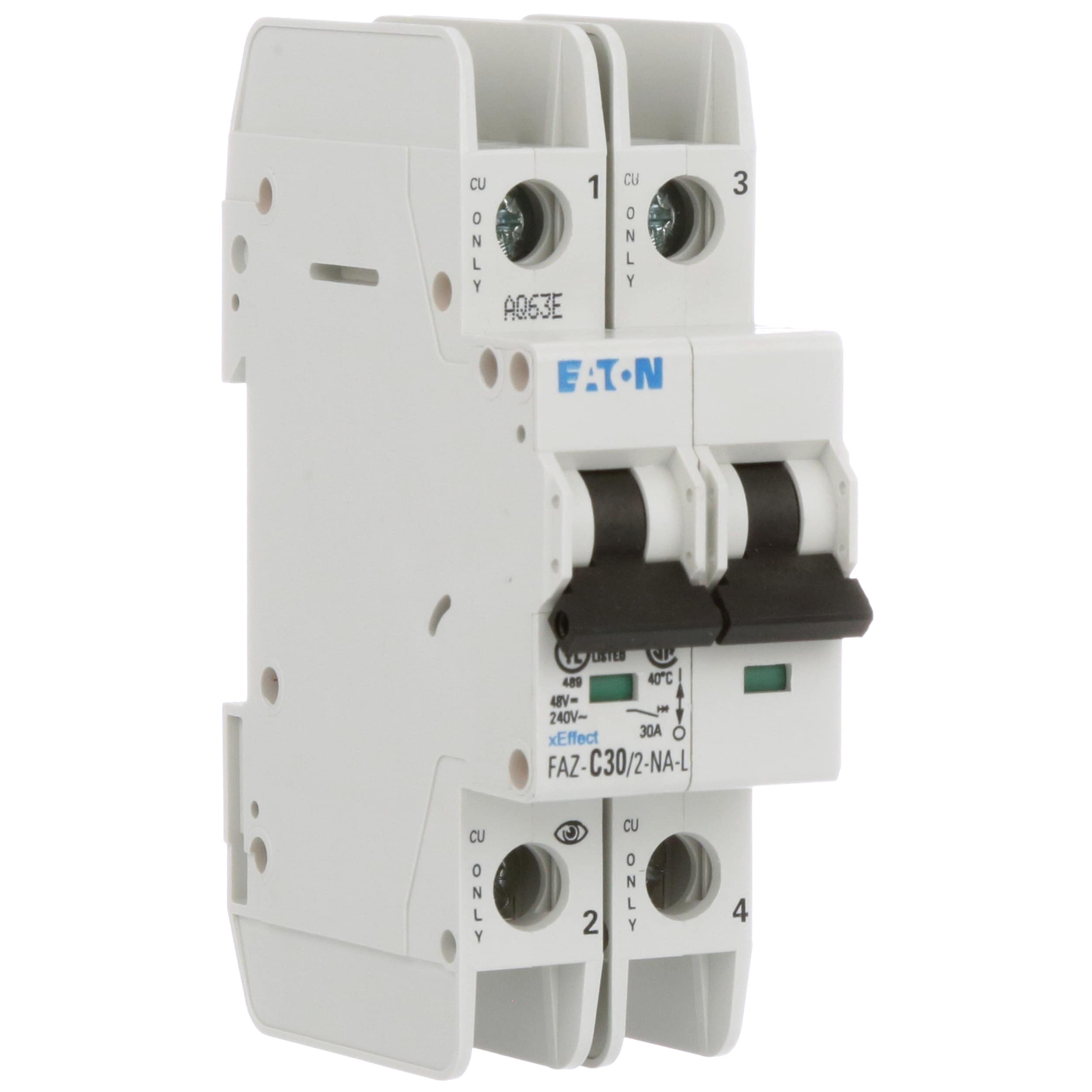 Eaton Cutler Hammer Faz C30 2 Na L Circuit Breaker C Mcb Is A Device Designed To Protect Circuit39s Curve Pole 30a Ul489 Branch 240vac Scr Terms Allied Electronics