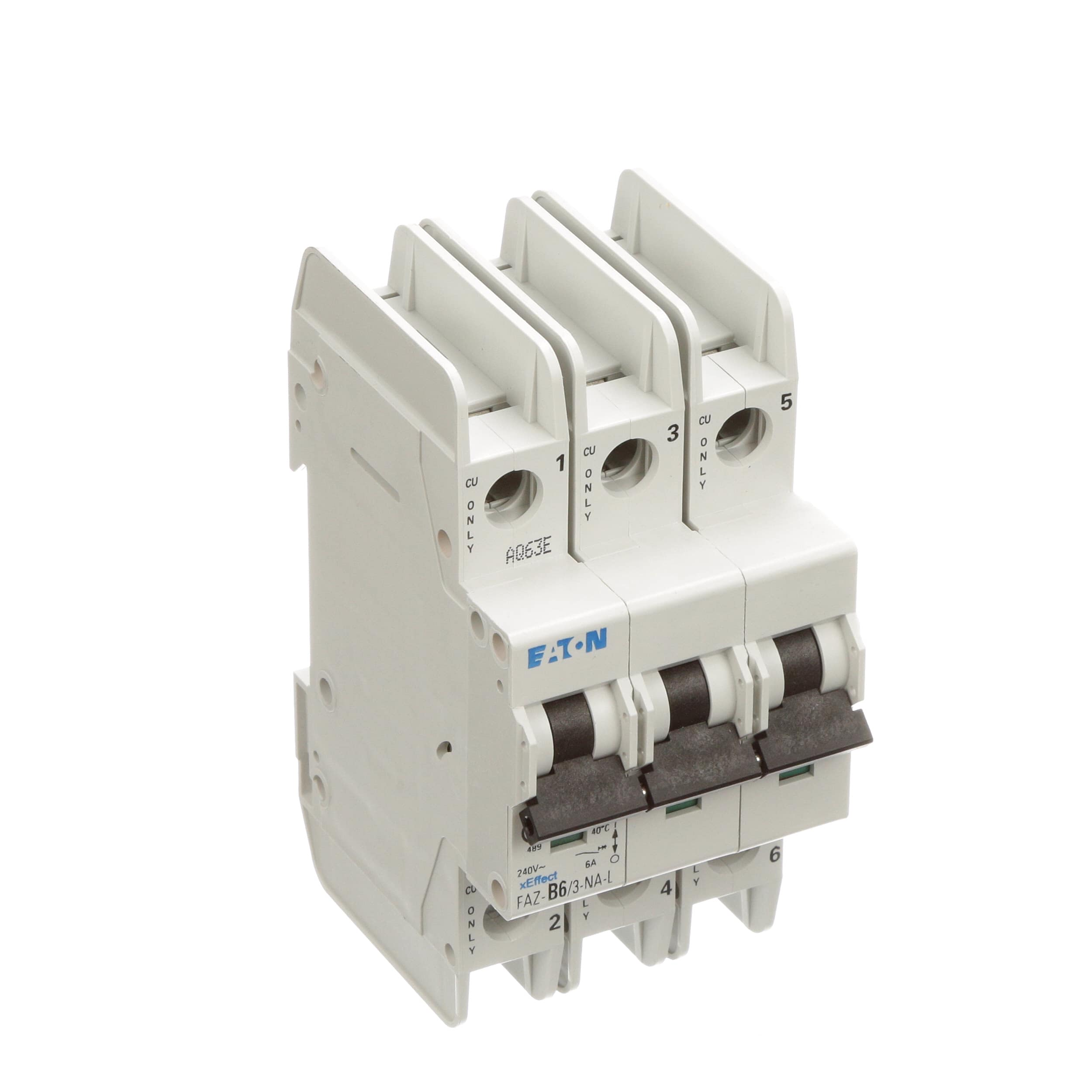 Eaton Cutler Hammer Faz B6 3 Na L Circuit Breaker B Mcb Is A Device Designed To Protect Circuit39s Curve Pole 6a Ul489 Branch 240vac Scr Terms Allied Electronics