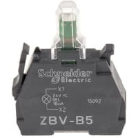 ZB4 BVG1 Schneider Electric XB4 Light Block LED White 110-120 V Screw terminal