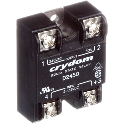 CRYDOM D2450 SOLID STATE RELAY 240 VAC 32 VDC 50 AMP SSR