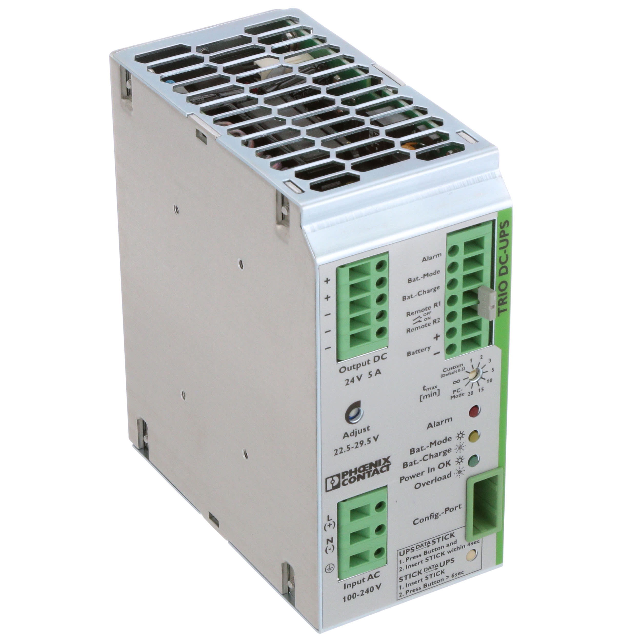New Phoenix Contact 2866611 TRIO-UPS//1AC//24DC//5 Uninterruptible Power Supply