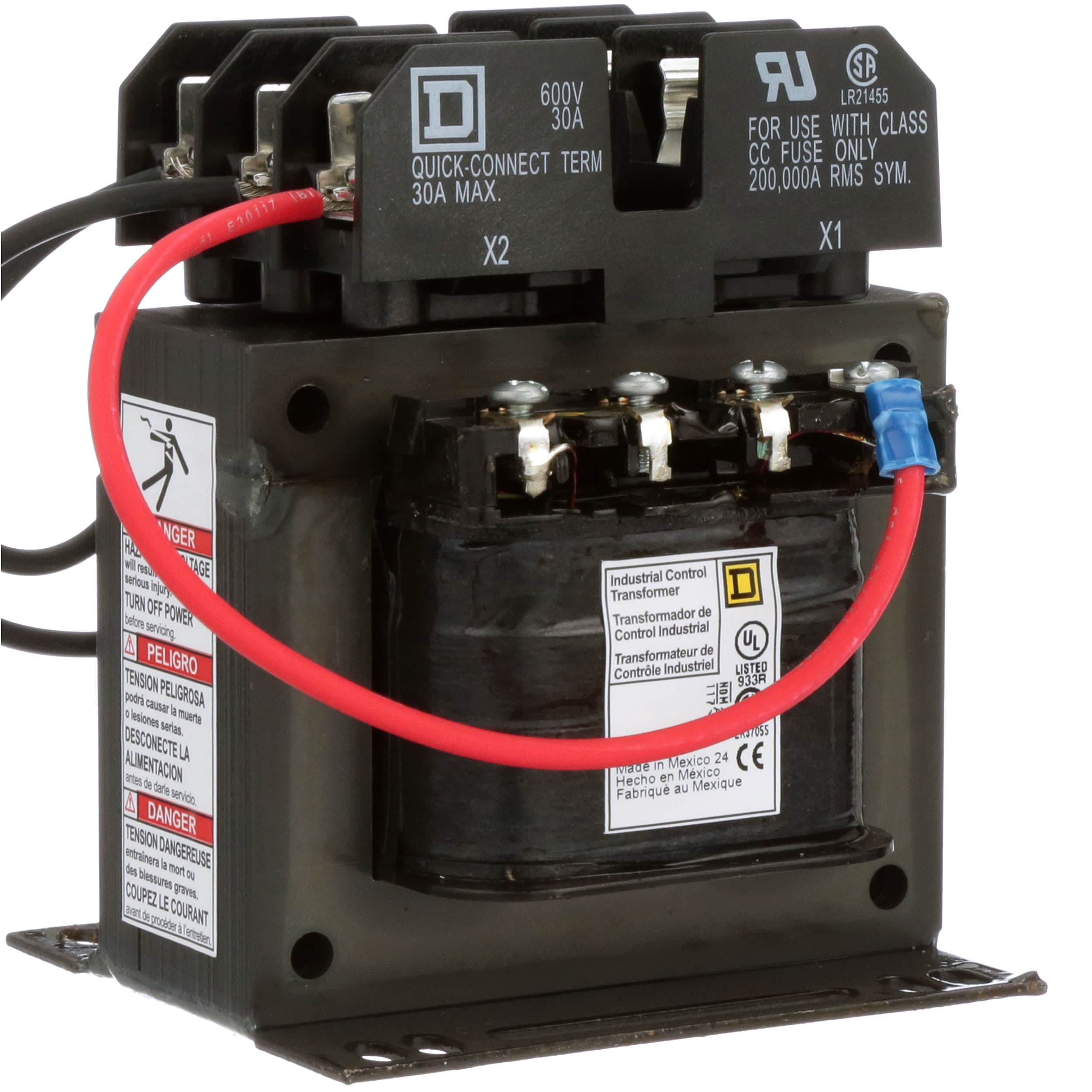Square D 9070tf150d1 Transformer 150va 240 480vac Primary 120vac Secondary Panel Mount 9070 Series Allied Electronics Automation