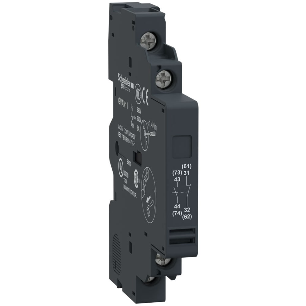NC GZ1AN11 auxiliary contacts Auxiliary Shooter NO SIDE Schneider Electric