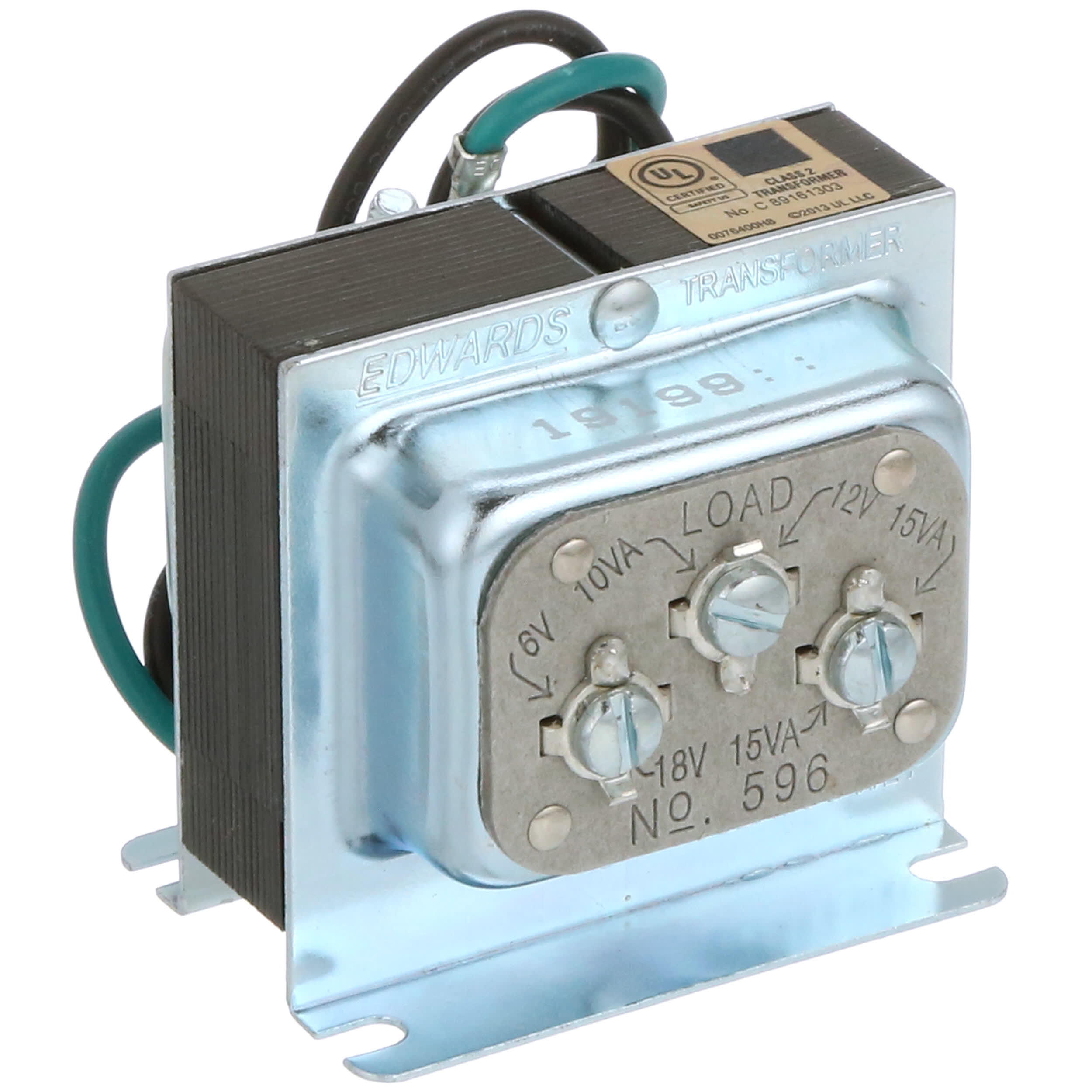 edwards signaling - 596 - transformer, energy limiting, enclosed, 1, freq  50/60hz, pri 120vac, 3 outlets - allied electronics & automation  allied electronics