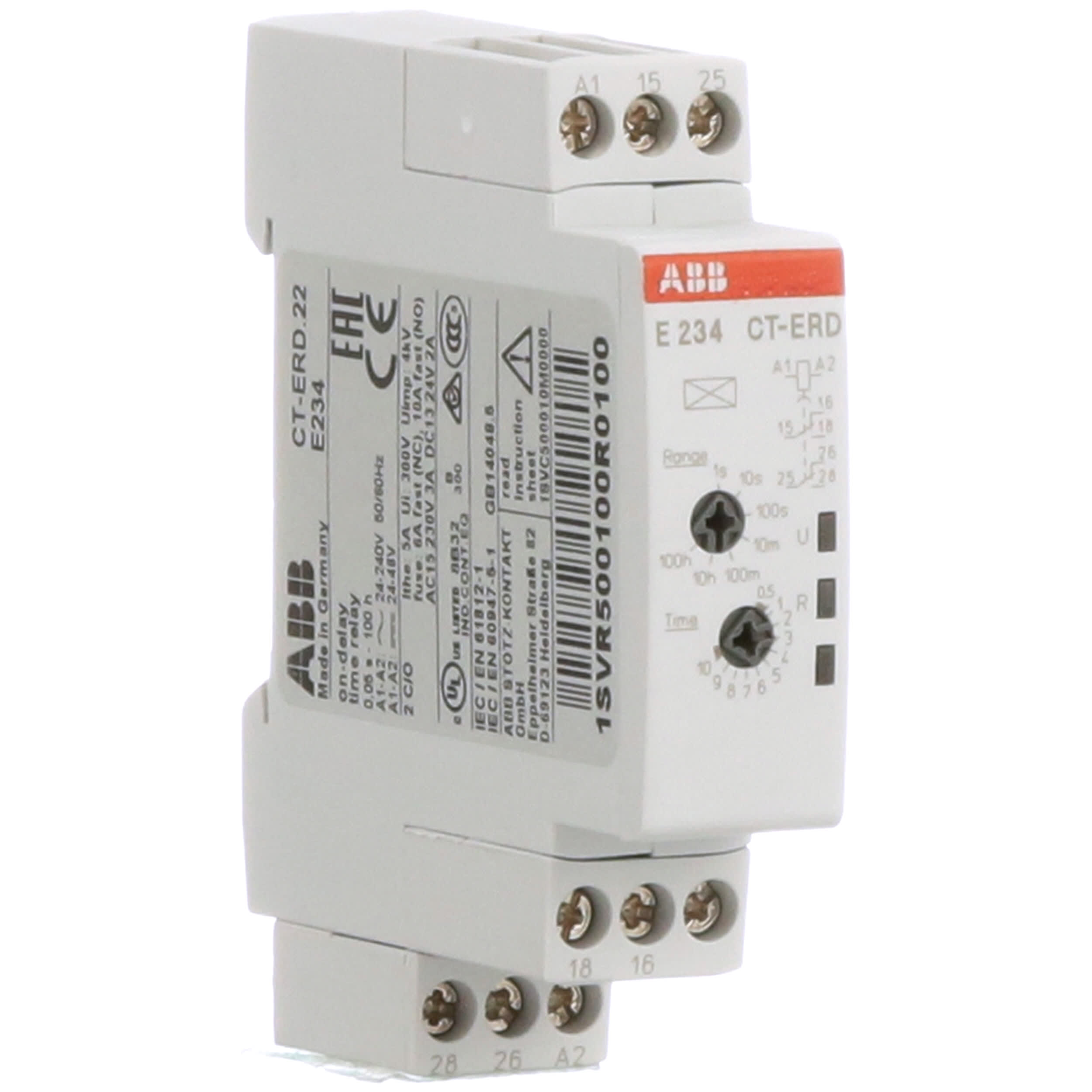[SCHEMATICS_4HG]  ABB - 1SVR500100R0100 - Time Delay Relay ON-Delay DIN-Rail DPDT - Allied  Electronics & Automation | Abb Solid State Relay Wiring Diagram |  | Allied Electronics