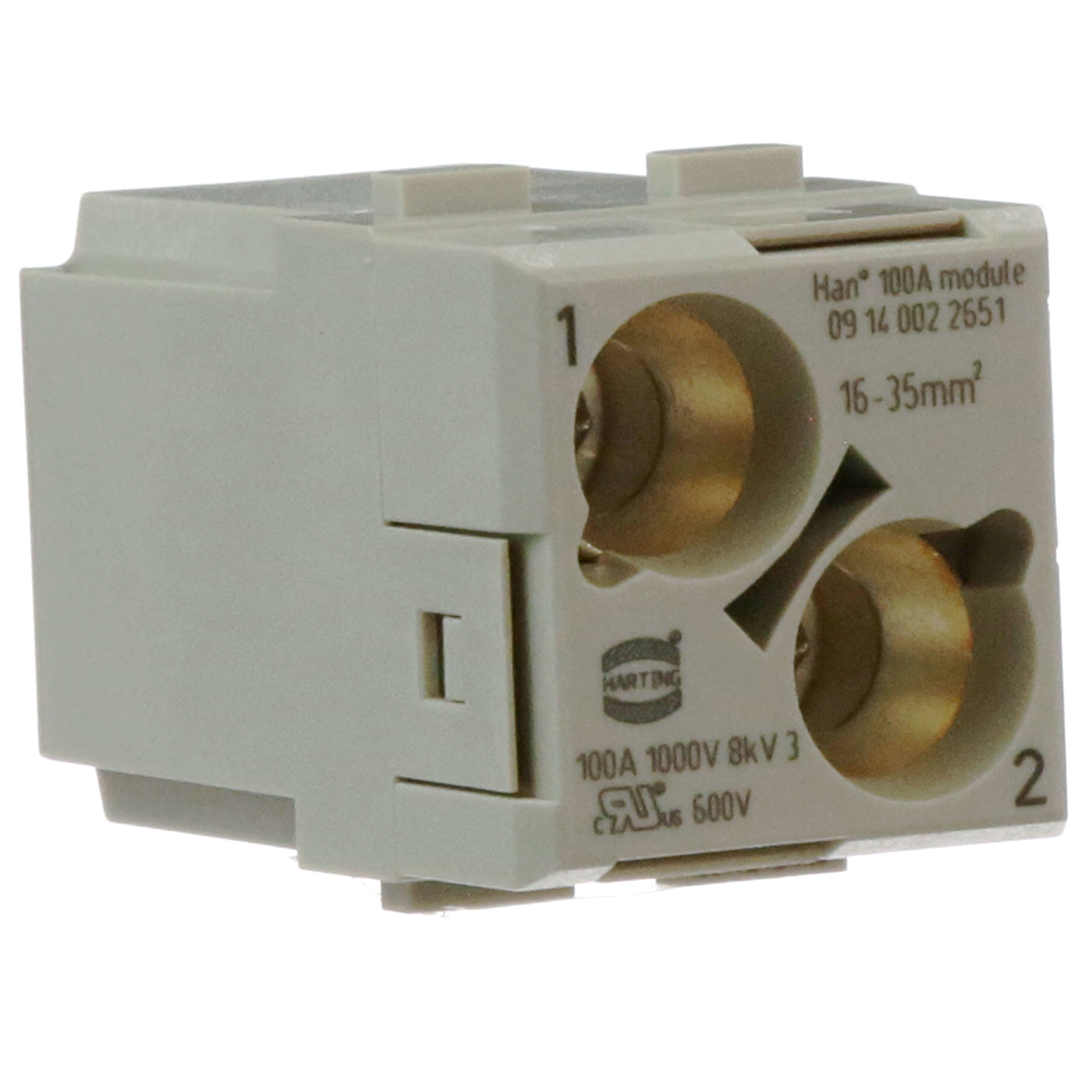 Heavy Duty Connector Han-Modular E Series Pack of 5 Less Contacts Protected Pin Module 09140063041 6 Contacts, Insert