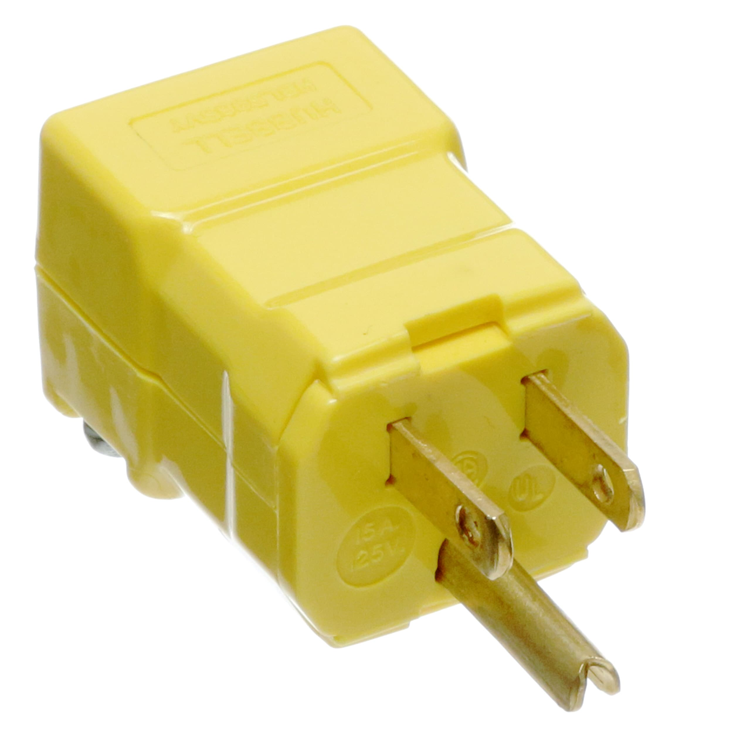 Hubbell HBL5965VY Straight Blade Plug Yellow
