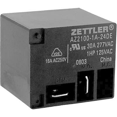 AZ2100-1A-12DE Relay; E-Mech; Power; SPST; Cur-Rtg 40A Inc American Zettler