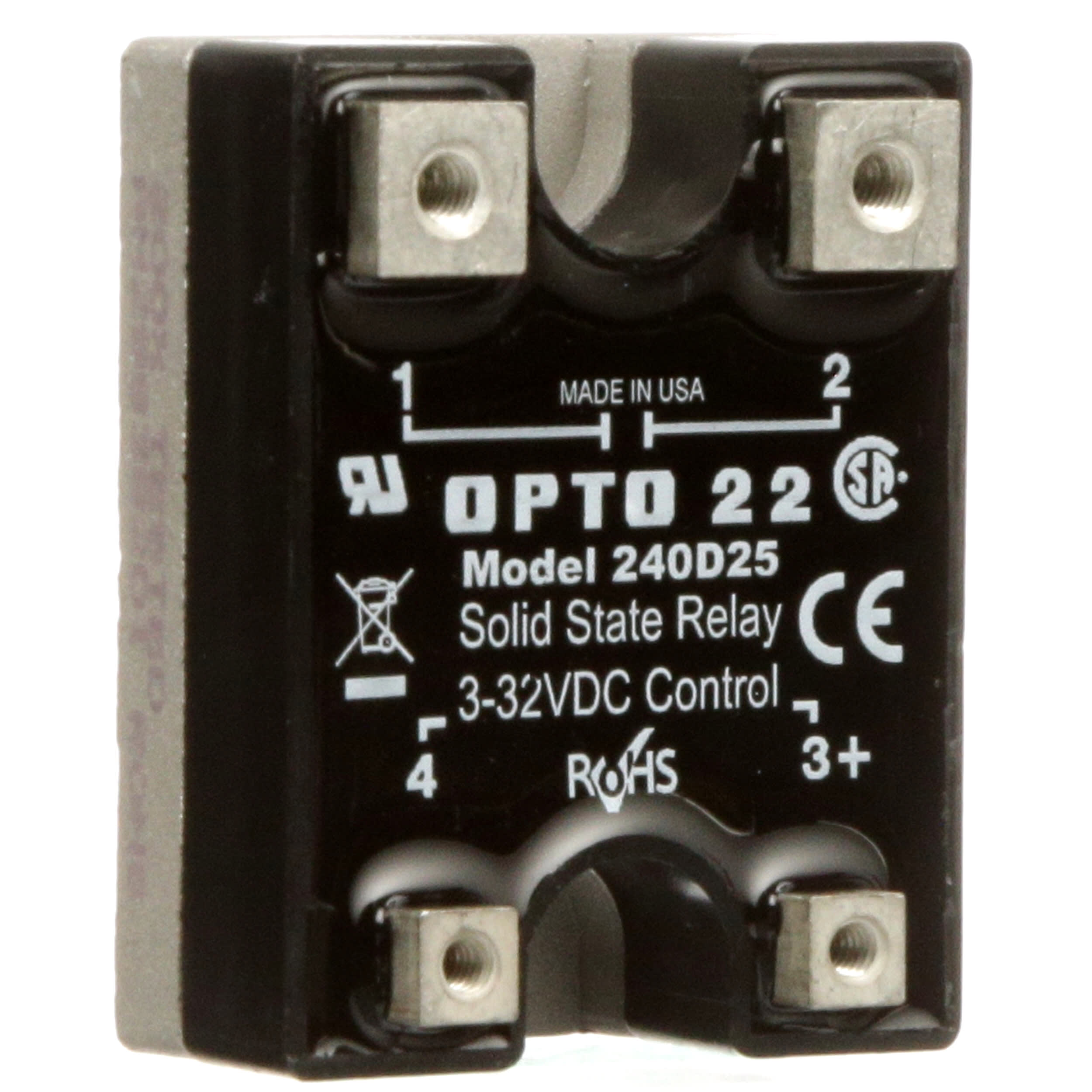 [SODI_2457]   Opto 22 - 240D25 - Solid State Relay, 32 VDC, SPST-NO, 25A/240V, DC  Switching, DC Series - Allied Electronics & Automation | Opto 22 Ssr Wiring Diagram |  | Allied Electronics