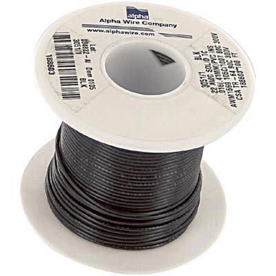 22 AWG Hook-Up Wire 3051 YL001 Alpha Wire