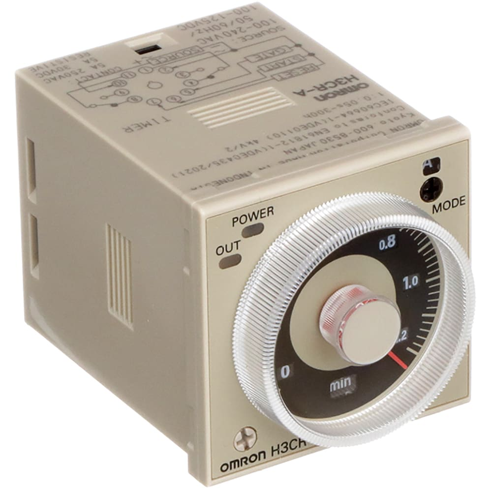 OMRON Timer H3CR-A H3CRA 100-240VAC//100-125VDC New in Box NIB Free Ship