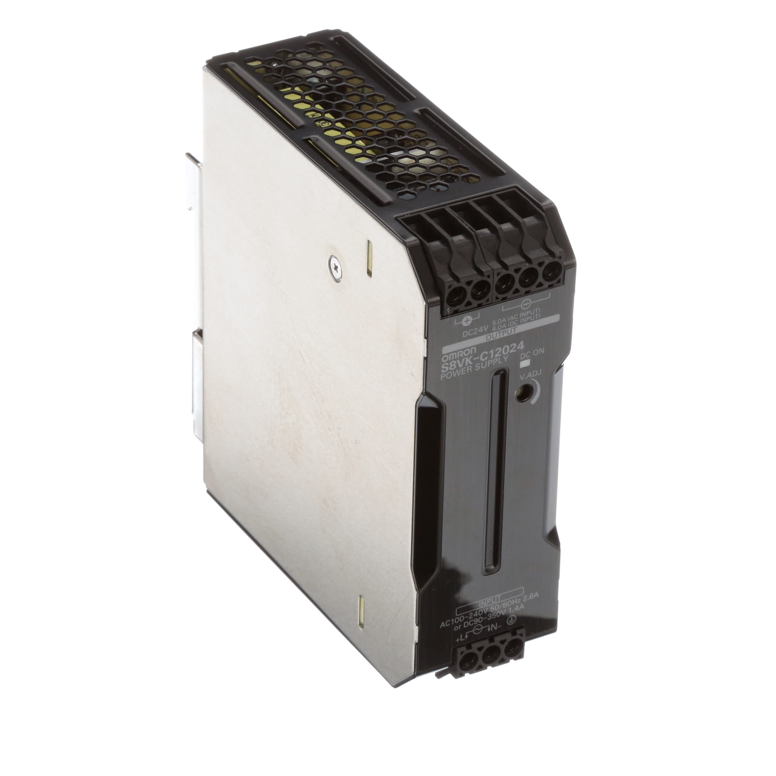 Omron Automation S8vk C12024 Power Supply Switch Mode 120w 24v 5a 20 10awg 14 10awg S8vs Series Allied Electronics Automation