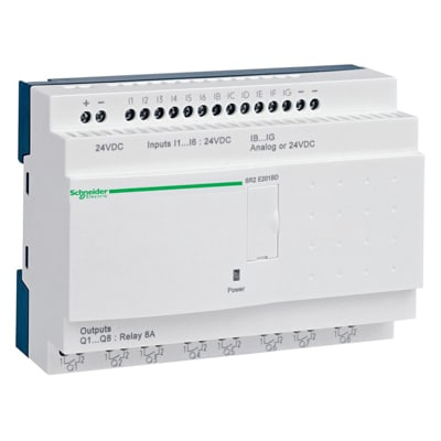 [QMVU_8575]  Schneider Electric - SR2E201BD - Smart Relay, Compact, 24VDC, 20 I/O, Zelio  Logic SR2 Series - Allied Electronics & Automation   Zelio Smart Relay Wiring Diagram      Allied Electronics