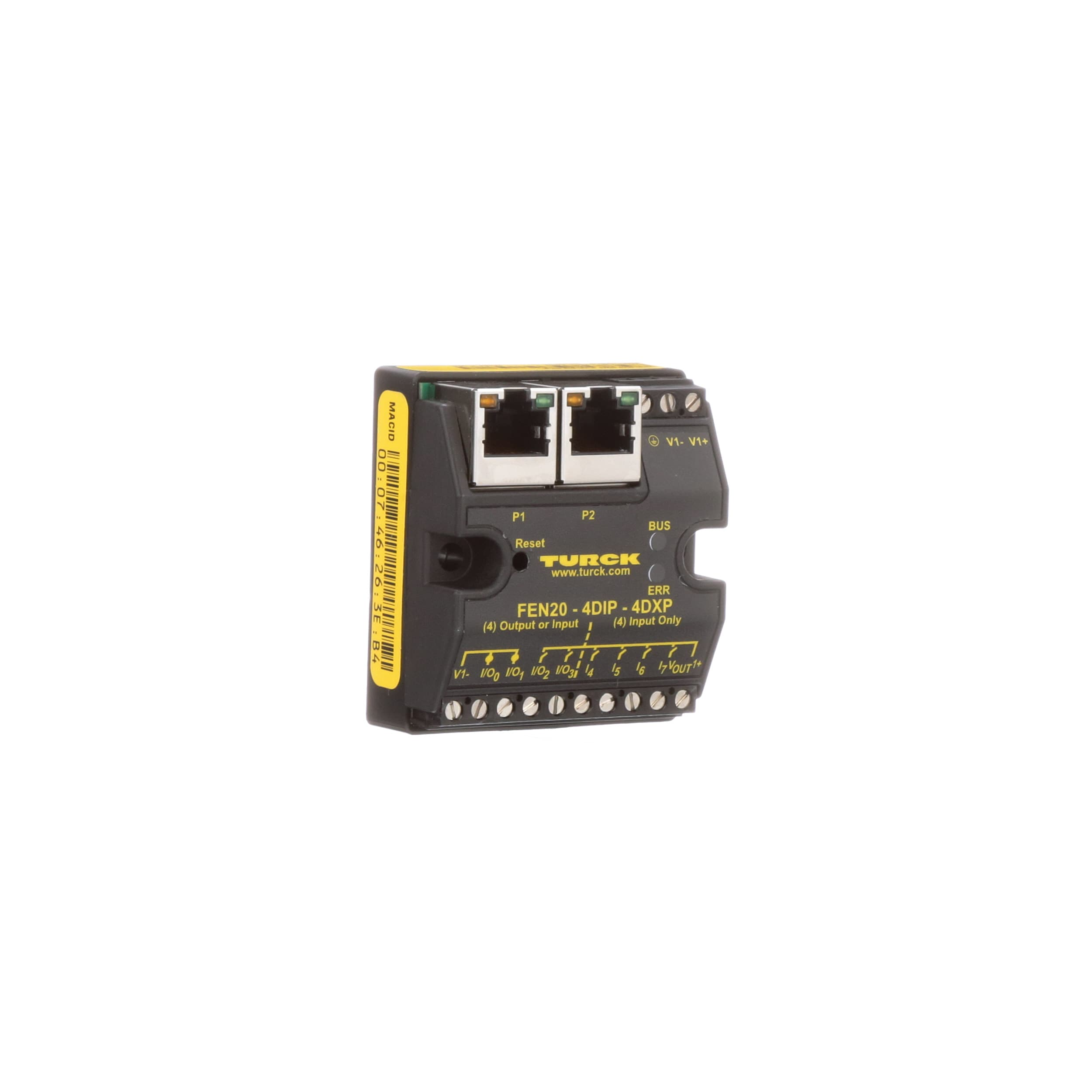 TURCK - FEN20-4DIP-4DXP - Multiprotocol block I/O modules, 4 PNP In, 4 in  or out, 24VDC, FEN20 Series - Allied Electronics & Automation | Turck I O Block Wiring Diagram |  | Allied Electronics