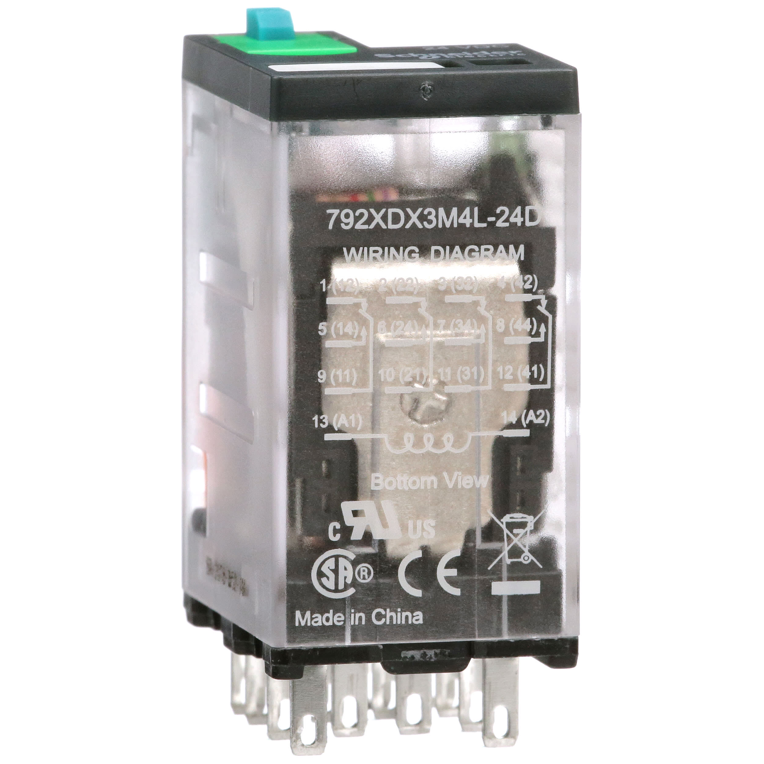 Schneider Electric Legacy Relays 792xdx3m4l 24d Ice Cube Relay 3a 4dpt 24vdc Plug In 300v Full Featured Cover 792 Control Allied Electronics Automation