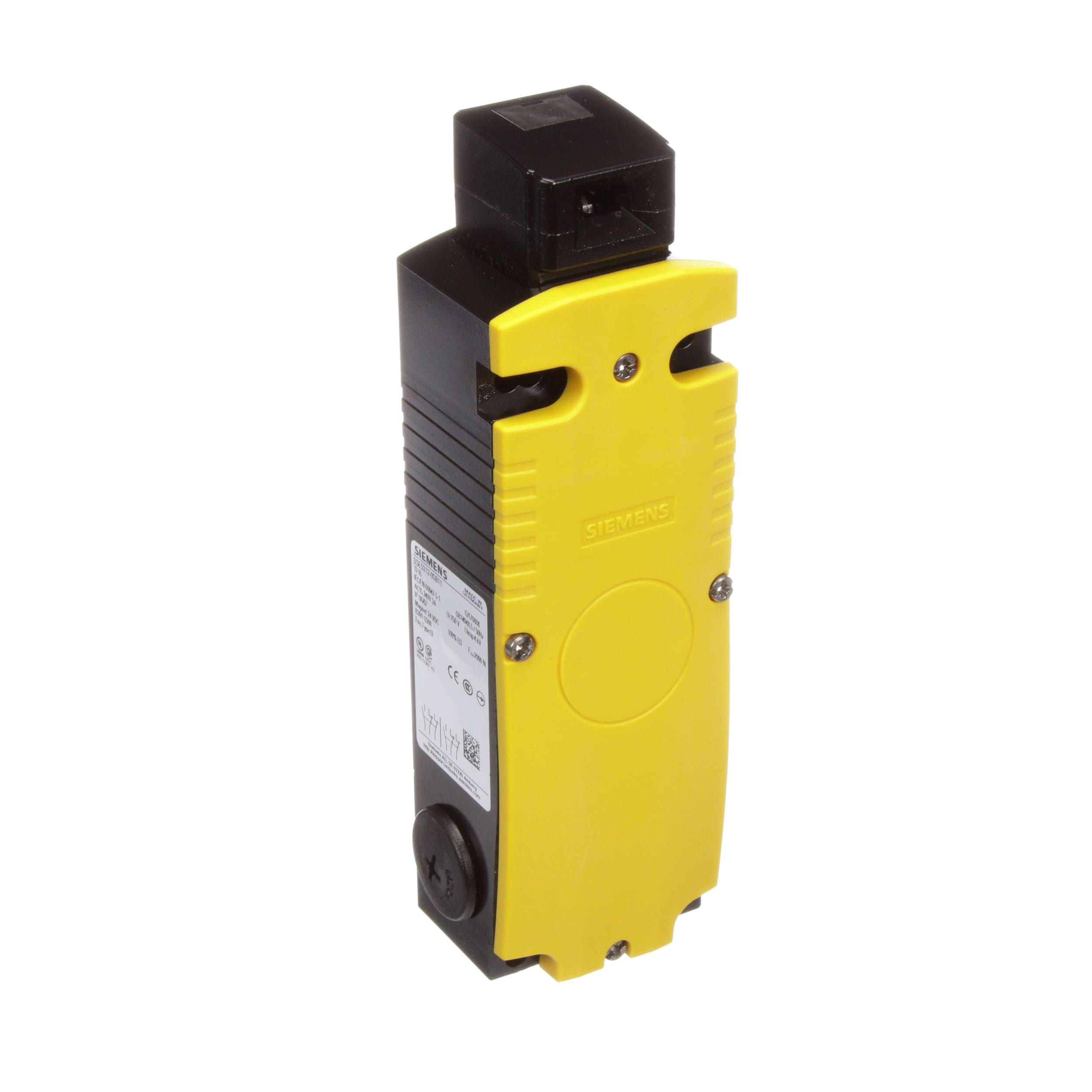 115VAC Rated Operational Voltage Escape Release From the Back 2600N Locking Force Auxiliary Release From the Front Spring Actuated Locks Siemens 3SE5 312-0SG12 Interlock Switch 54mm Metal Enclosure