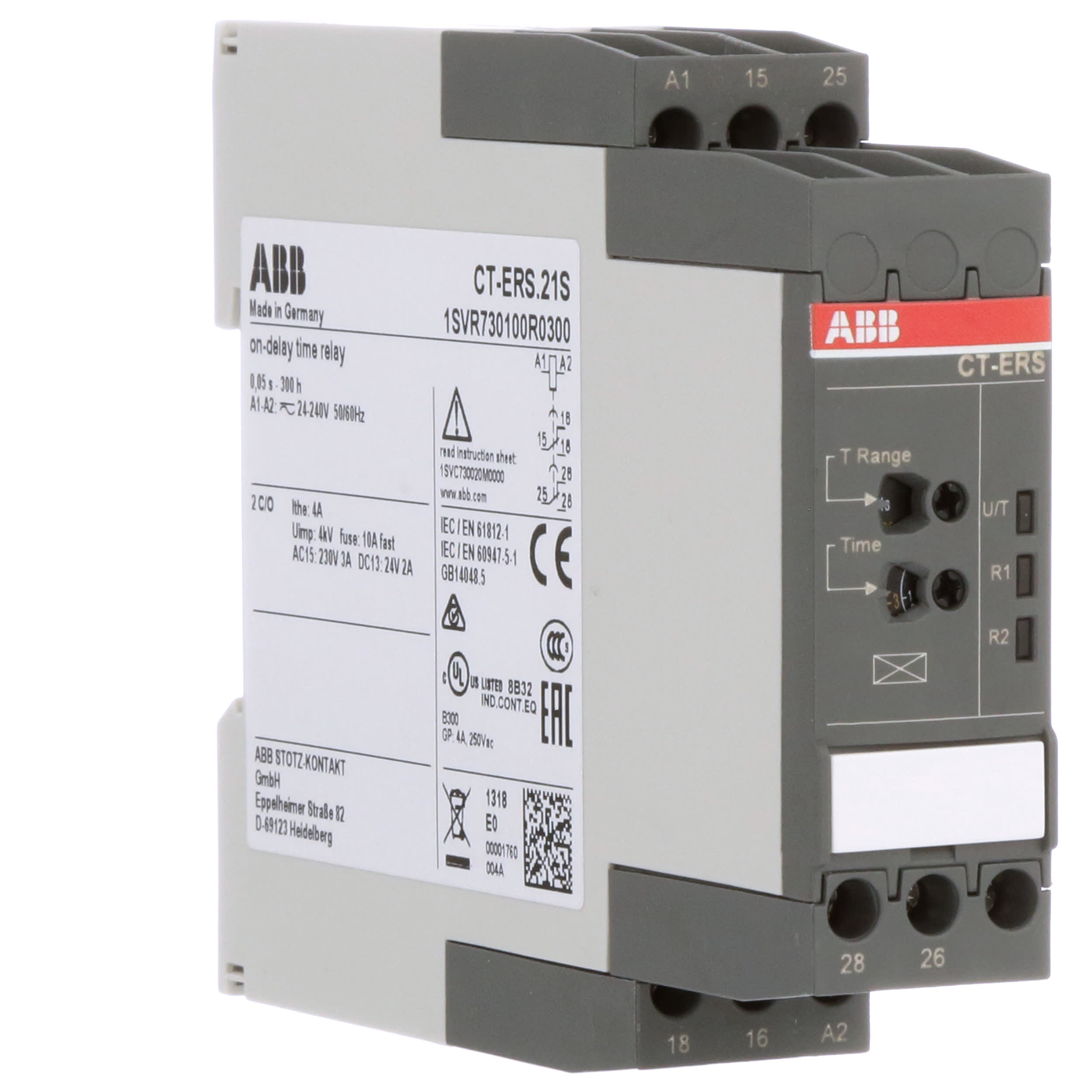 [DHAV_9290]  ABB - 1SVR730100R0300 - CT-ERS.21S Time relay ON-delay - Allied Electronics  & Automation | Abb Solid State Relay Wiring Diagram |  | Allied Electronics